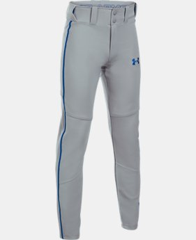 Boys' UA Heater Piped Baseball Pants LIMITED TIME: FREE U.S. SHIPPING 4 Colors $34.99