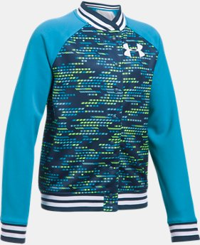 Girls' UA Armour® Fleece Bomber LIMITED TIME OFFER 1 Color $34.99