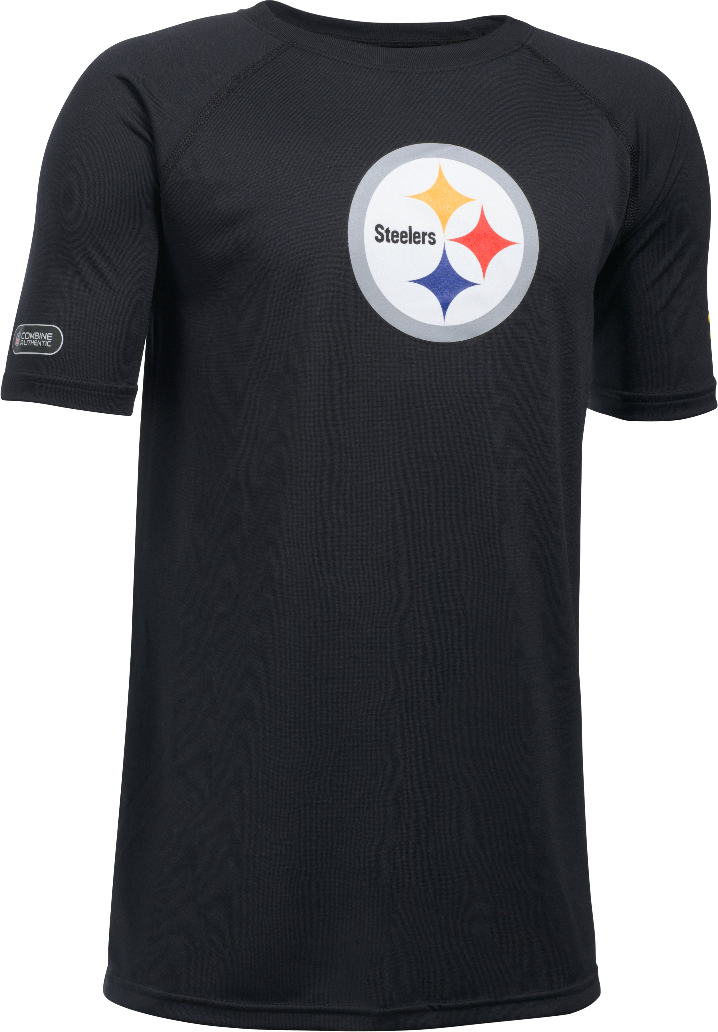 Kids' NFL Combine Authentic UA Logo T-Shirt, Pittsburgh Steelers, undefined