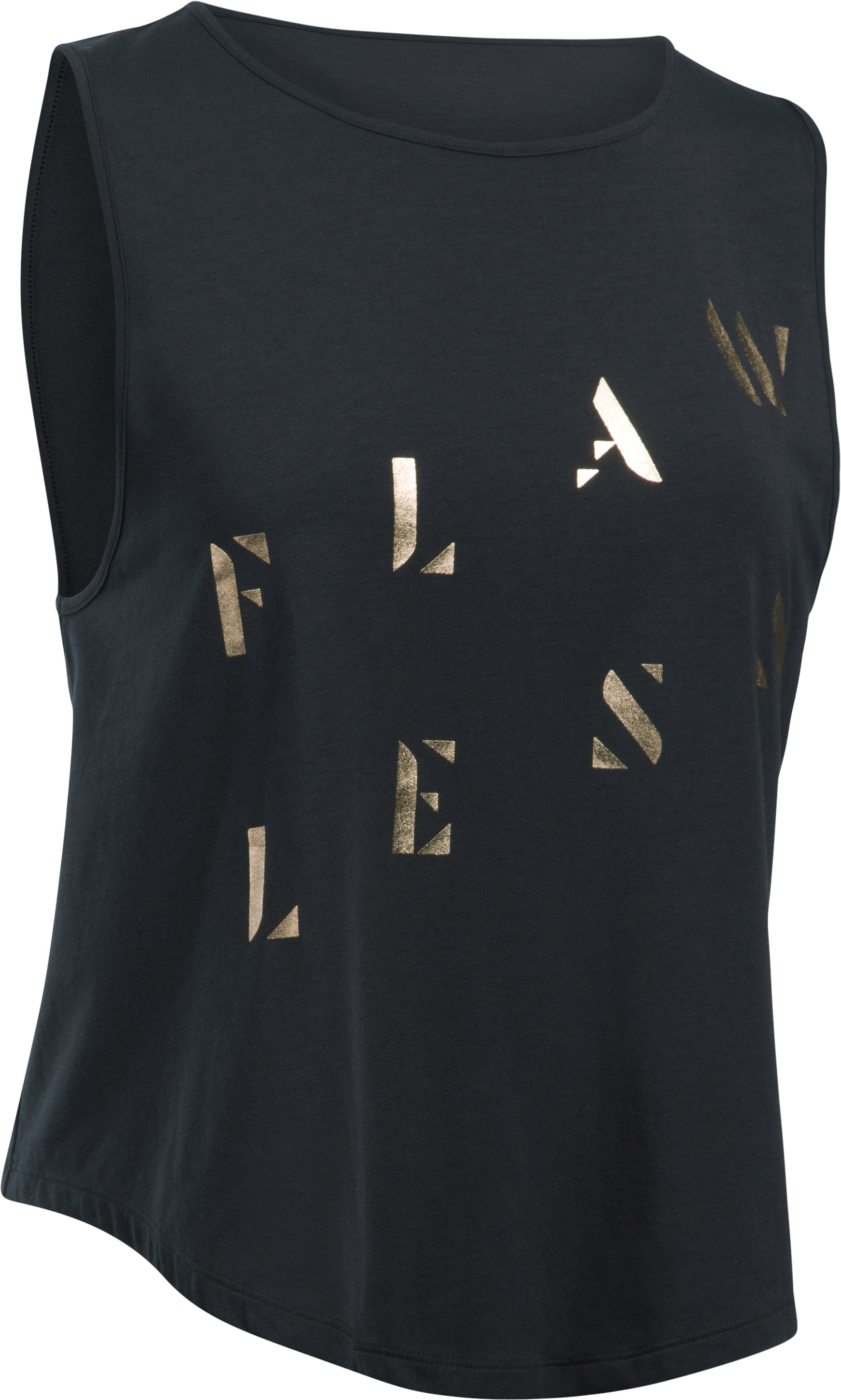 Women's UA Opening Night Flawless Tank, Black , undefined