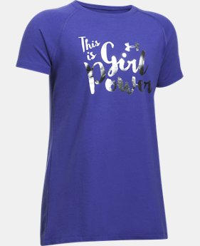 New Arrival Girls' UA This Is Girl Power T-Shirt  1 Color $19.99