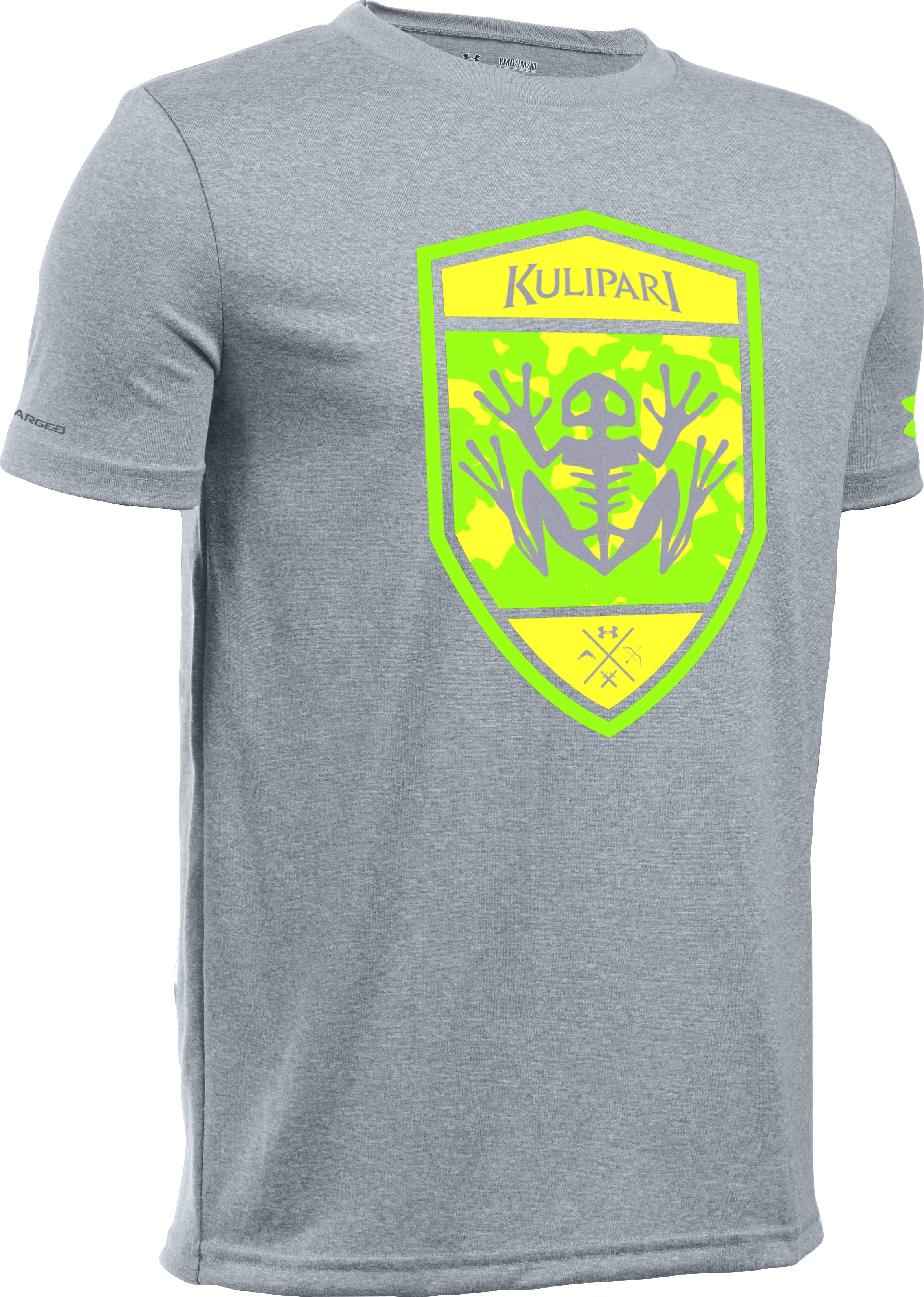 Kids' Kulipari UA Frog Battalion T-Shirt, True Gray Heather, zoomed image