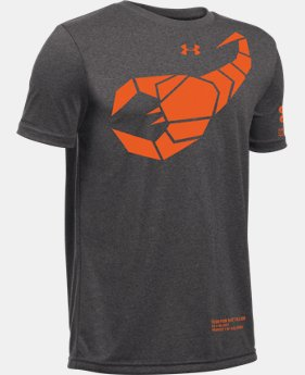 New Arrival Kids' UA Scorpion Battalion T-Shirt LIMITED TIME: FREE SHIPPING 1 Color $19.99