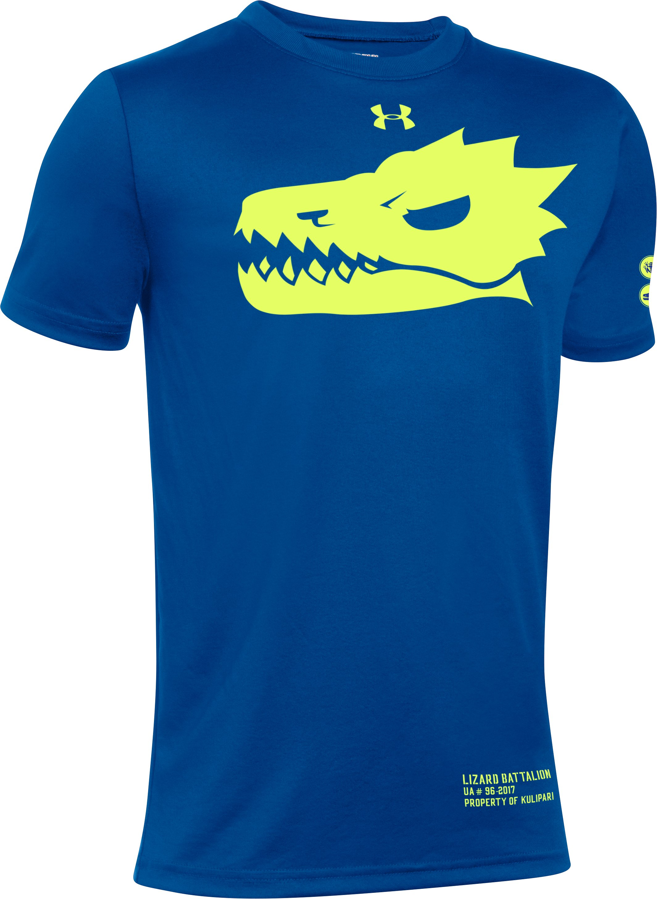 Kids' Kulipari UA Lizard Battalion T-Shirt, Royal, zoomed image