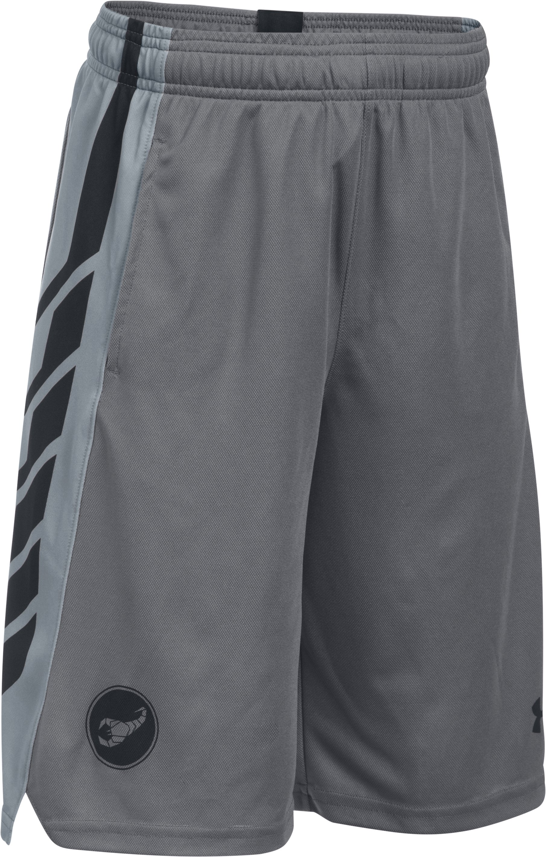 Boys' Kulipari UA Scorpion Shorts, Graphite