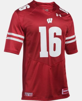Men's Wisconsin #16 UA Premier Football Jersey *Ships 8/10/16*
