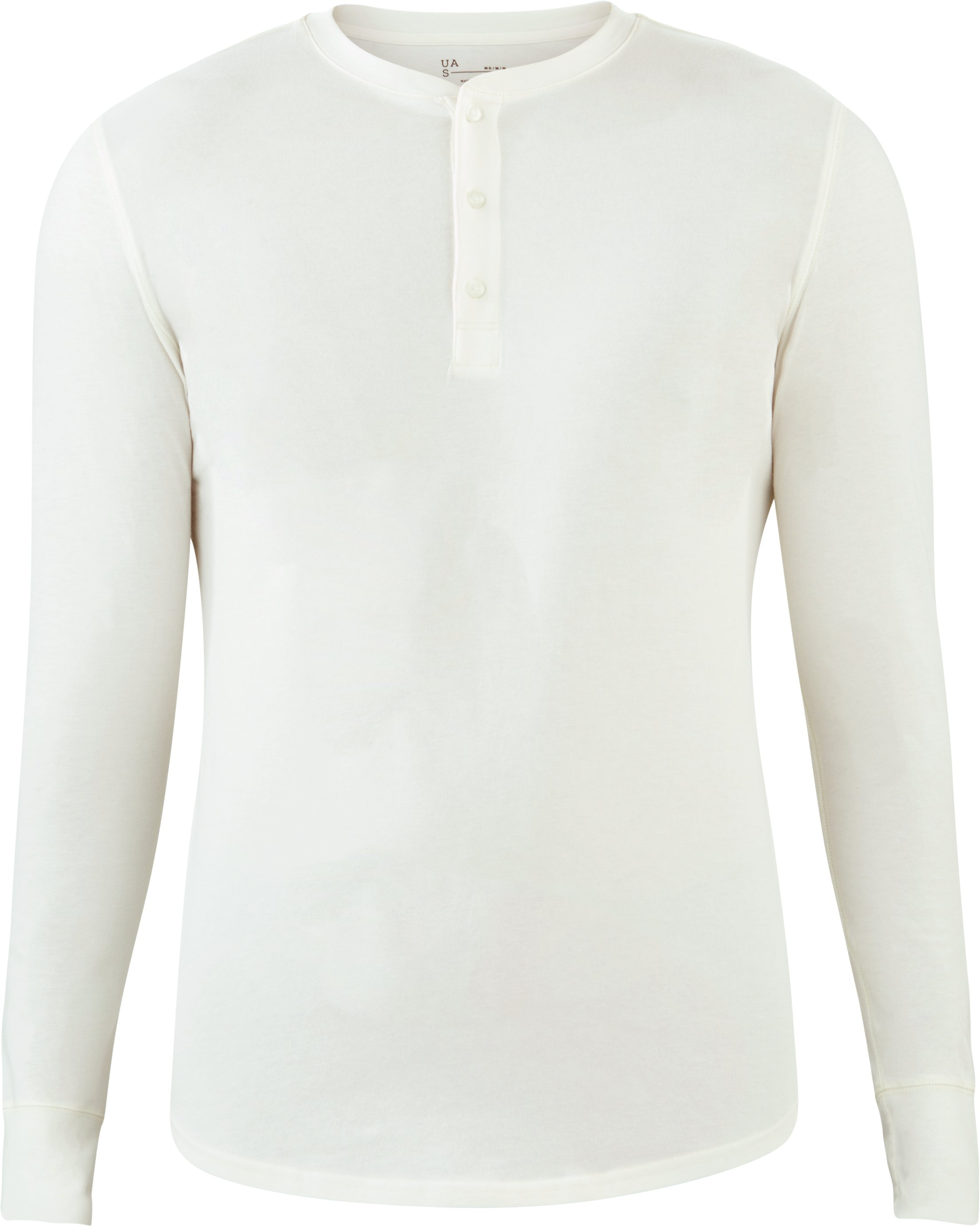 Men's UAS Highline Cashmere-Cotton Long Sleeve Henley, White, undefined