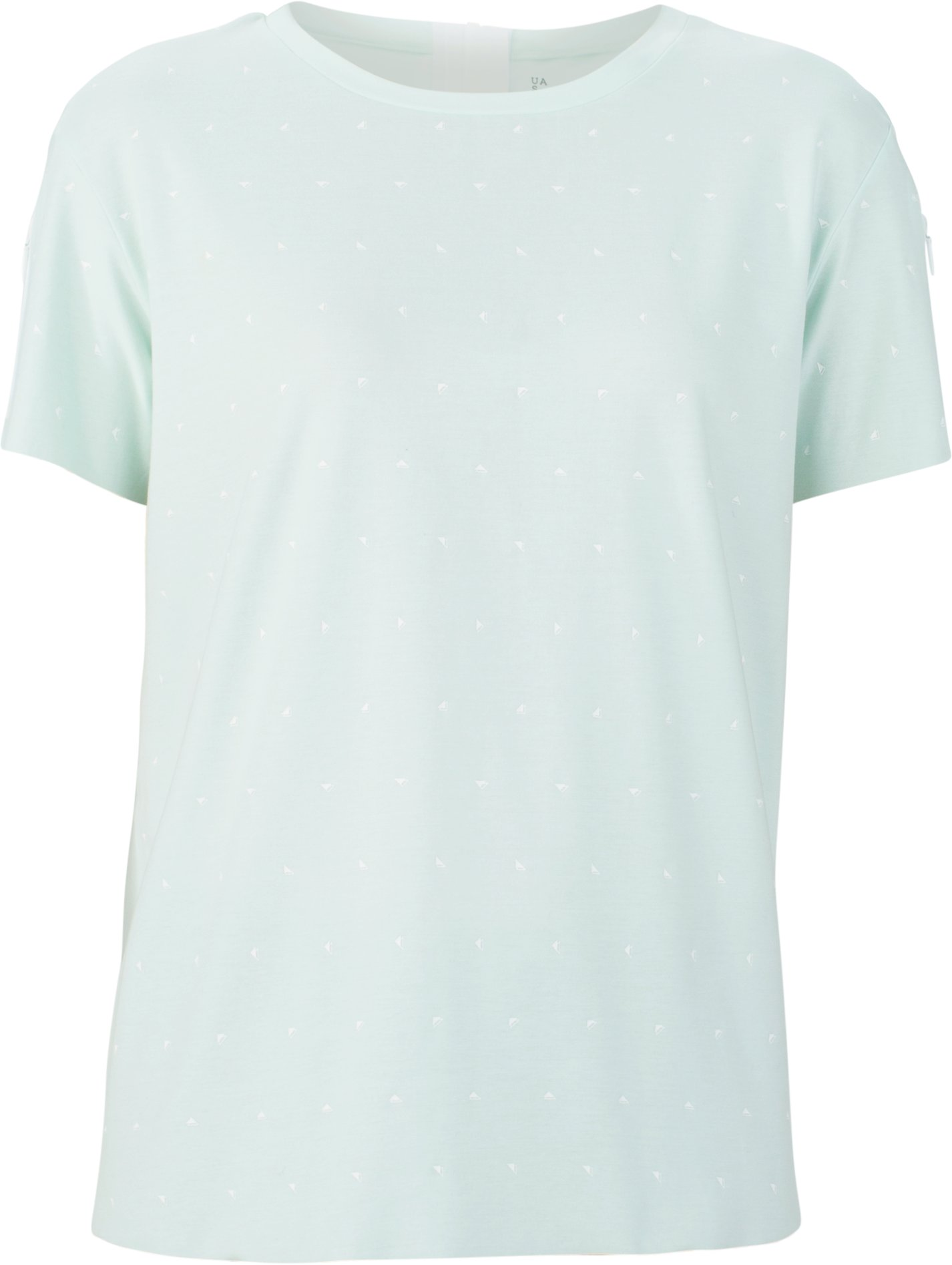 Women's UAS Back Zip Pattern T-Shirt, BABY BLUE, undefined