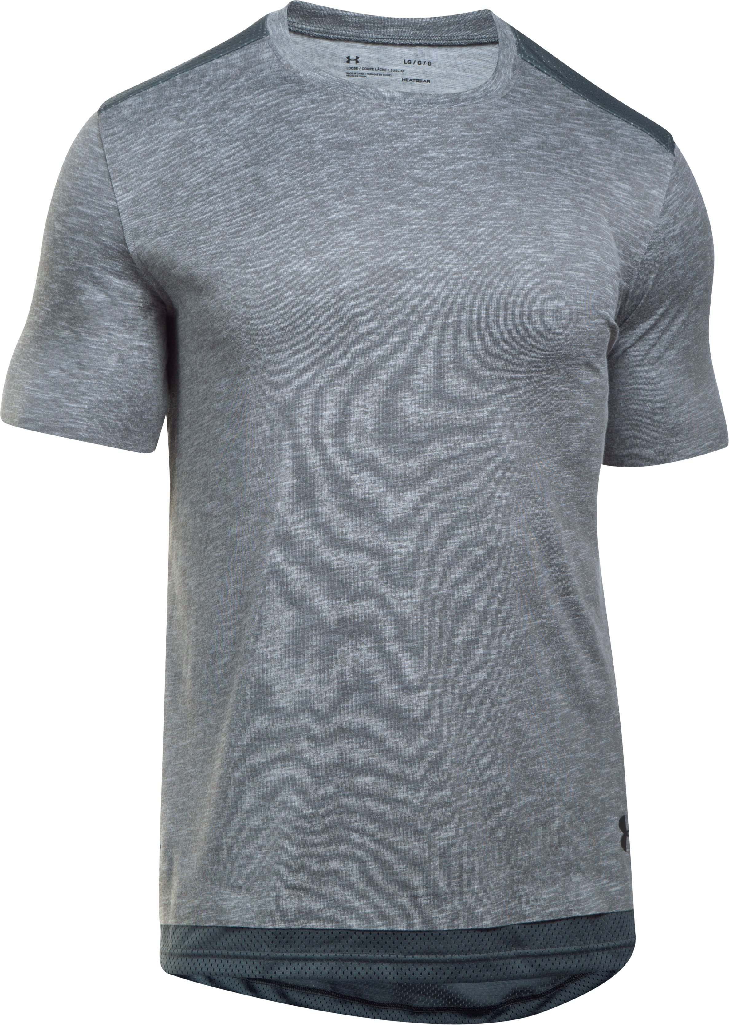 Men's UA Sportstyle Layered T-Shirt, Steel, undefined