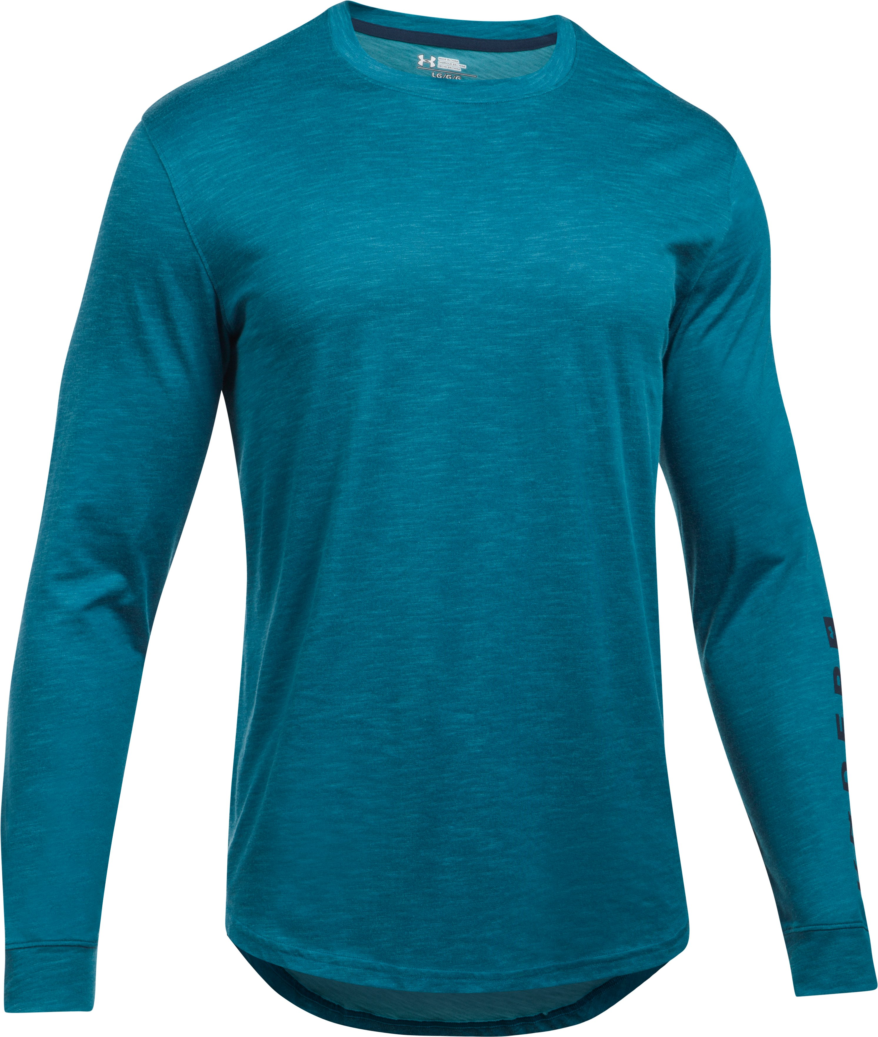 Men's UA Sportstyle Long Sleeve T-Shirt, BAYOU BLUE, undefined