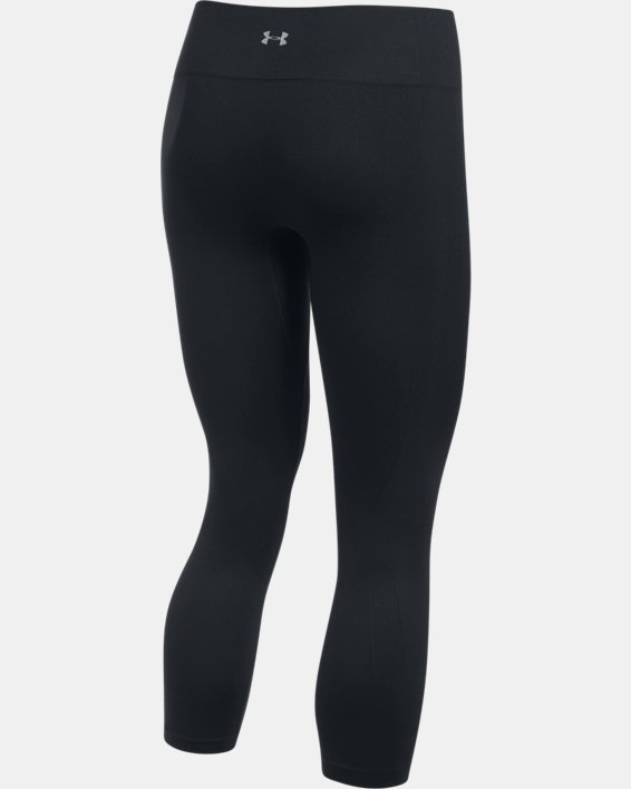 Women's UA Threadborne™ Seamless Crop, Black, pdpMainDesktop image number 4