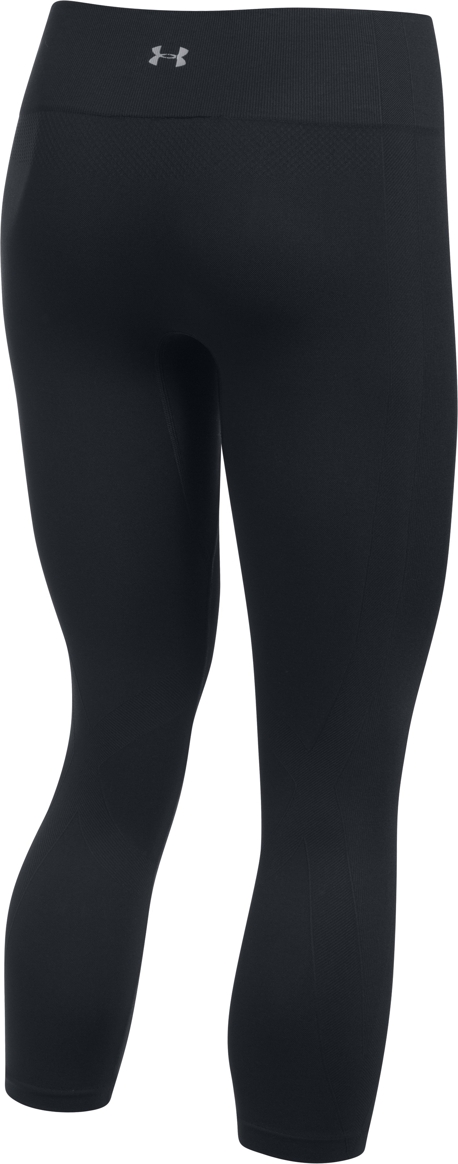 Women's UA Seamless Crop, Black ,