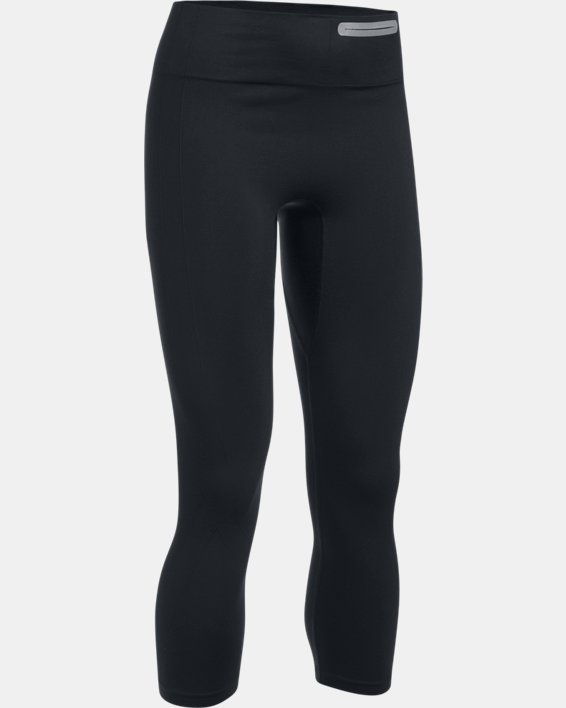 Women's UA Threadborne™ Seamless Crop, Black, pdpMainDesktop image number 3