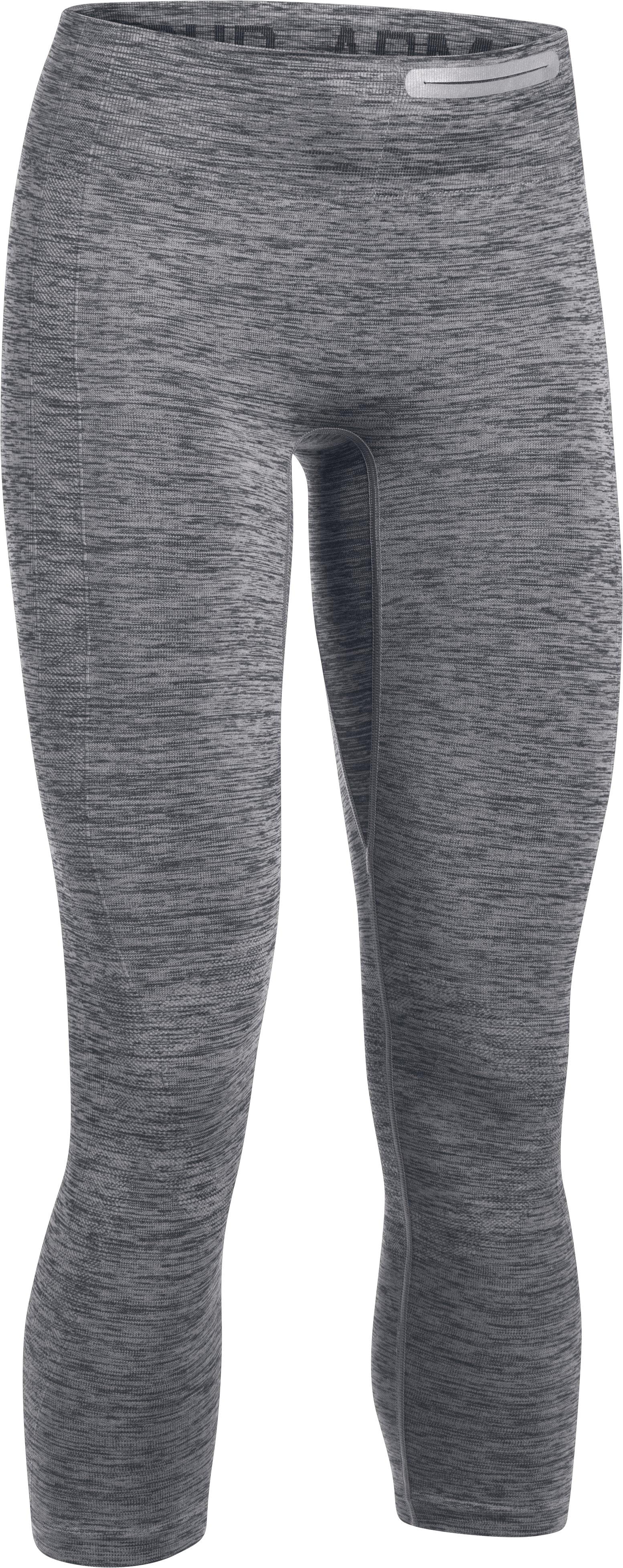 Women's UA Threadborne™ Seamless Heathered Crop, ANTHRACITE,