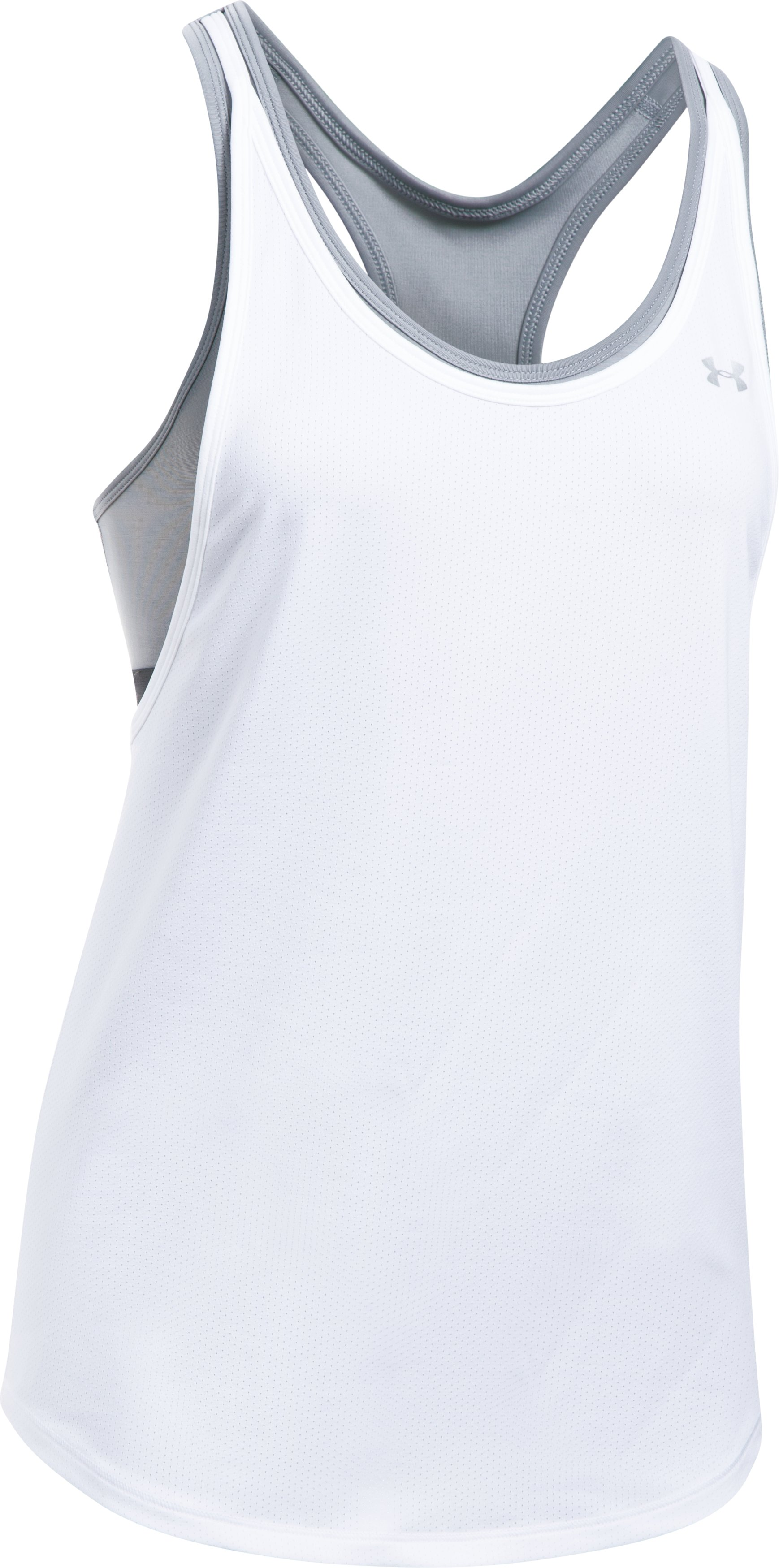 Women's HeatGear® Armour 2-in-1 Tank, White,