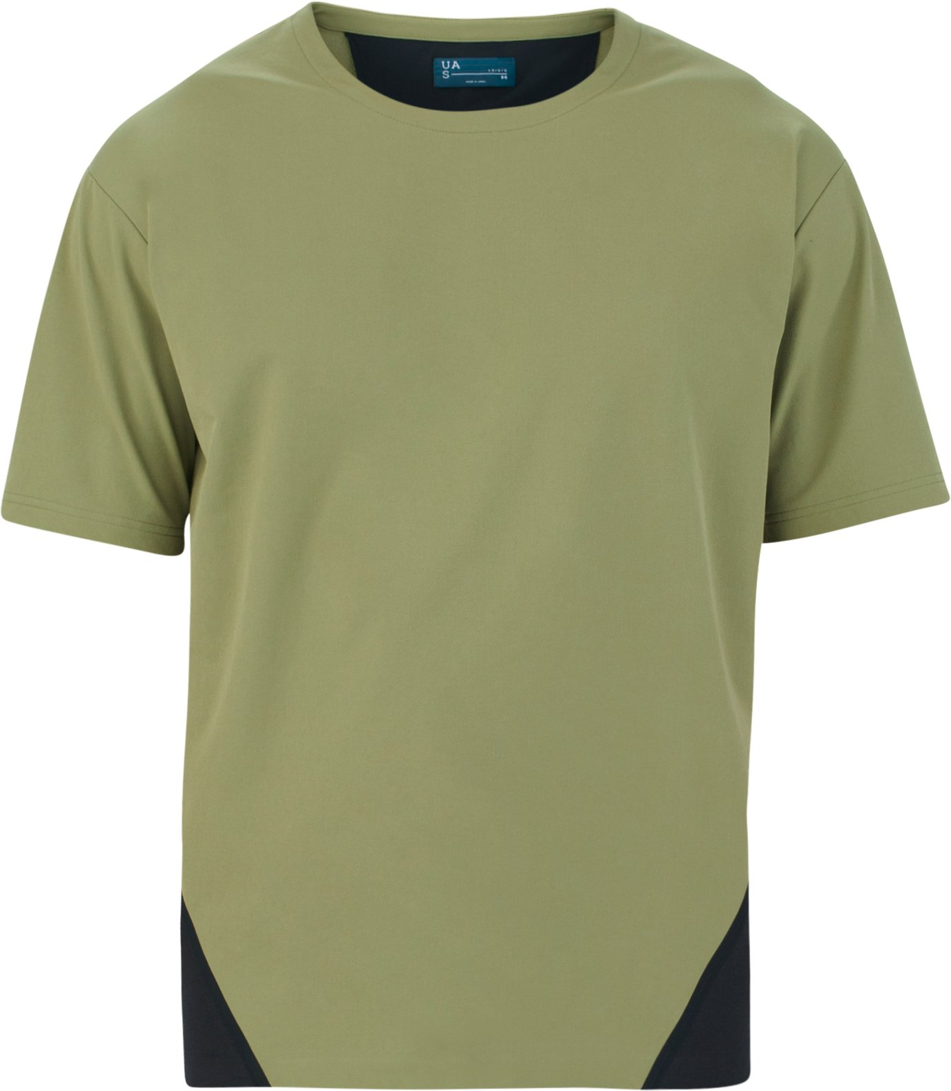 Men's UAS Pivot Crepe Short Sleeve Sweatshirt, MILITARY, undefined