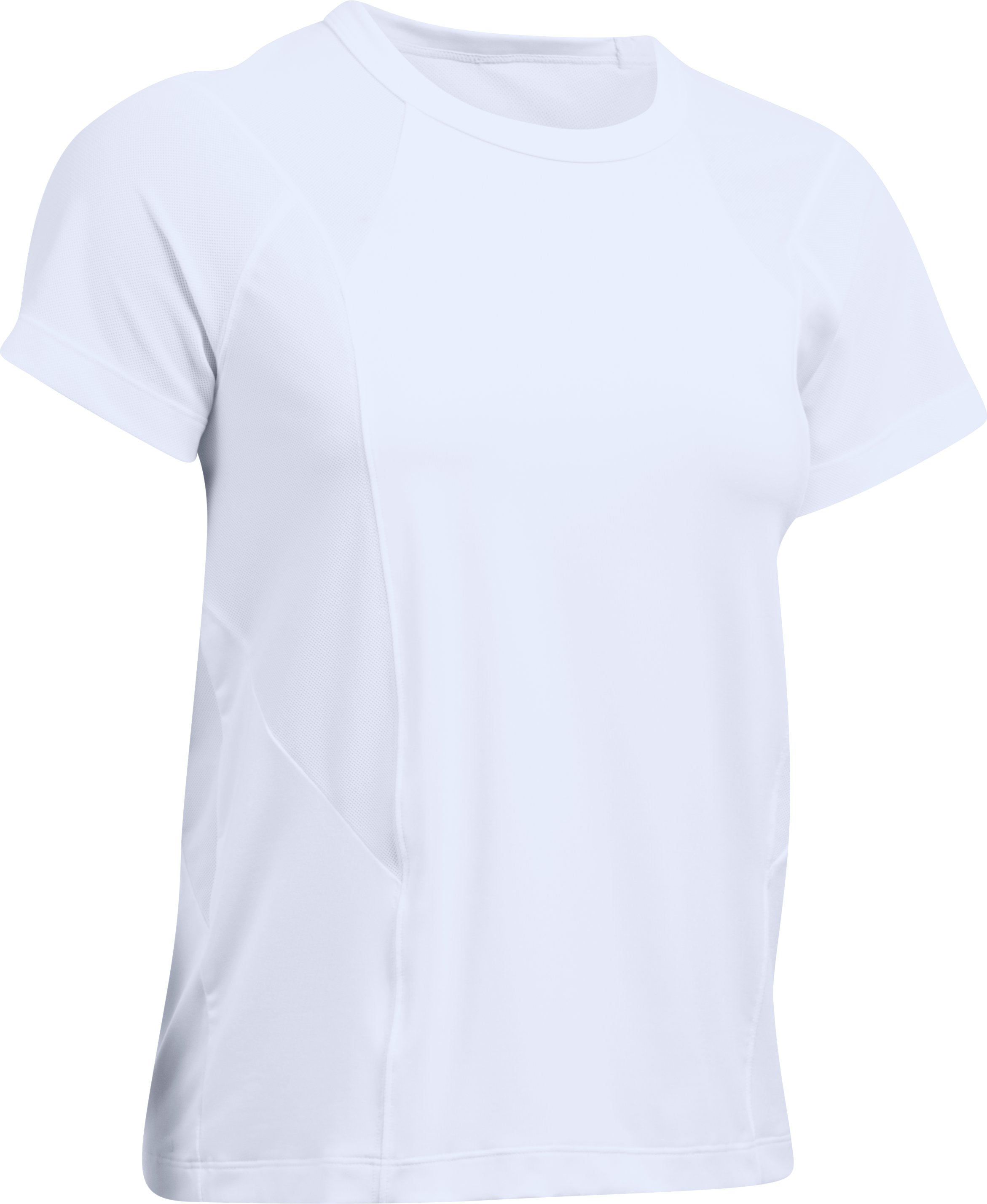 Women's UA Flashy T-Shirt, White, undefined