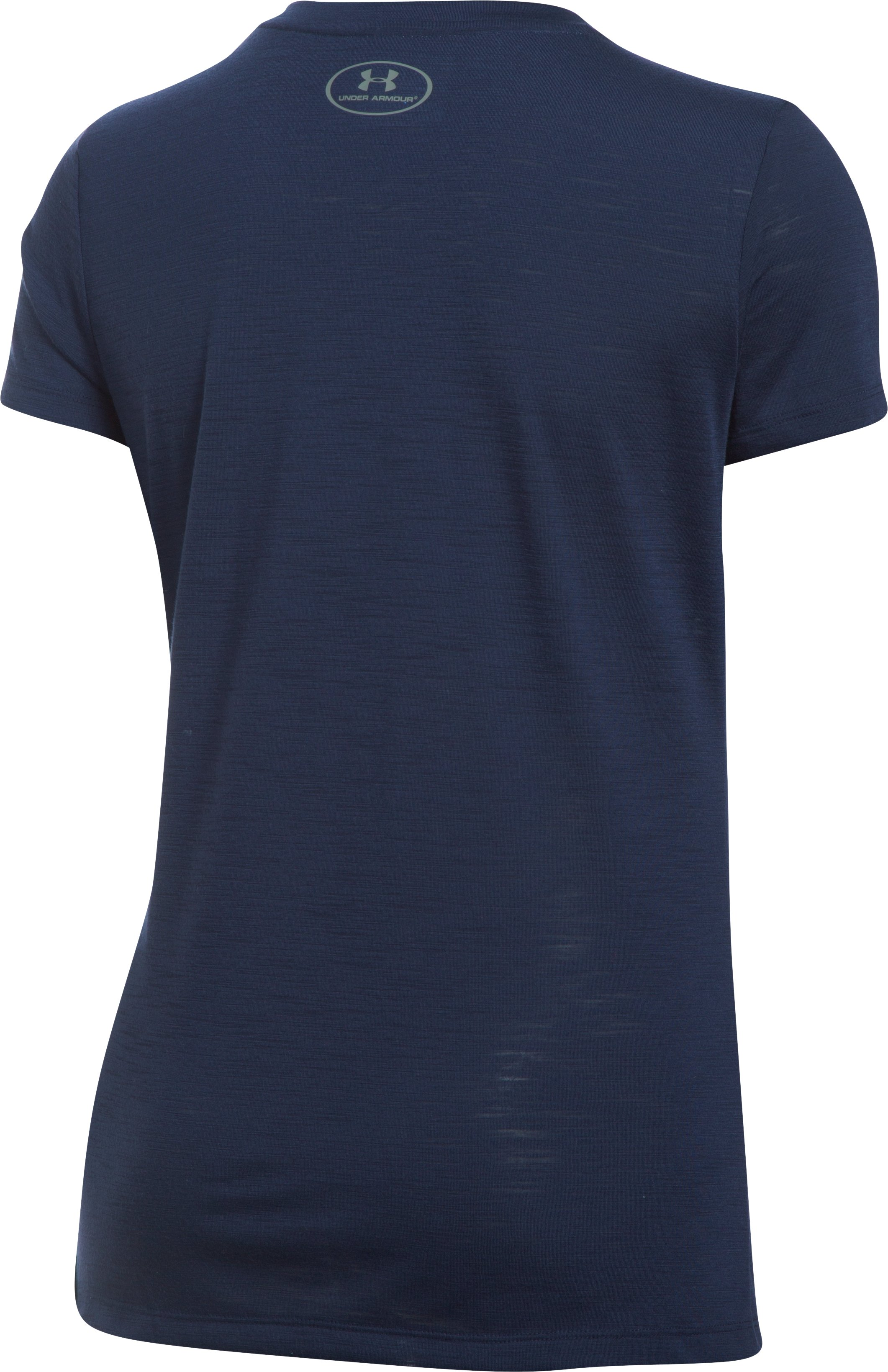 Women's UA Threadborne™ Train Slub T-Shirt, Midnight Navy, undefined