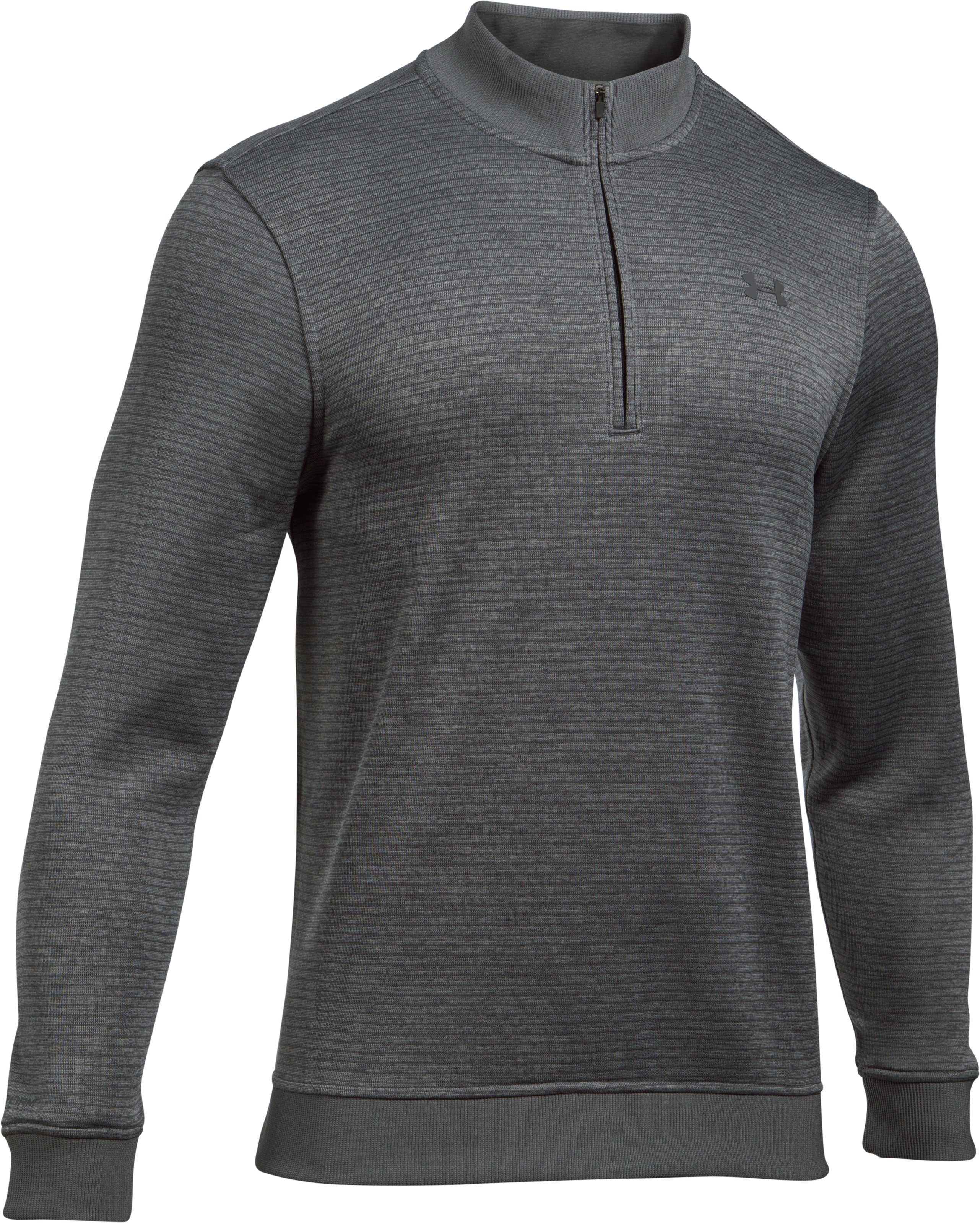 Men's UA Storm SweaterFleece Patterned ¼ Zip, True Gray Heather,
