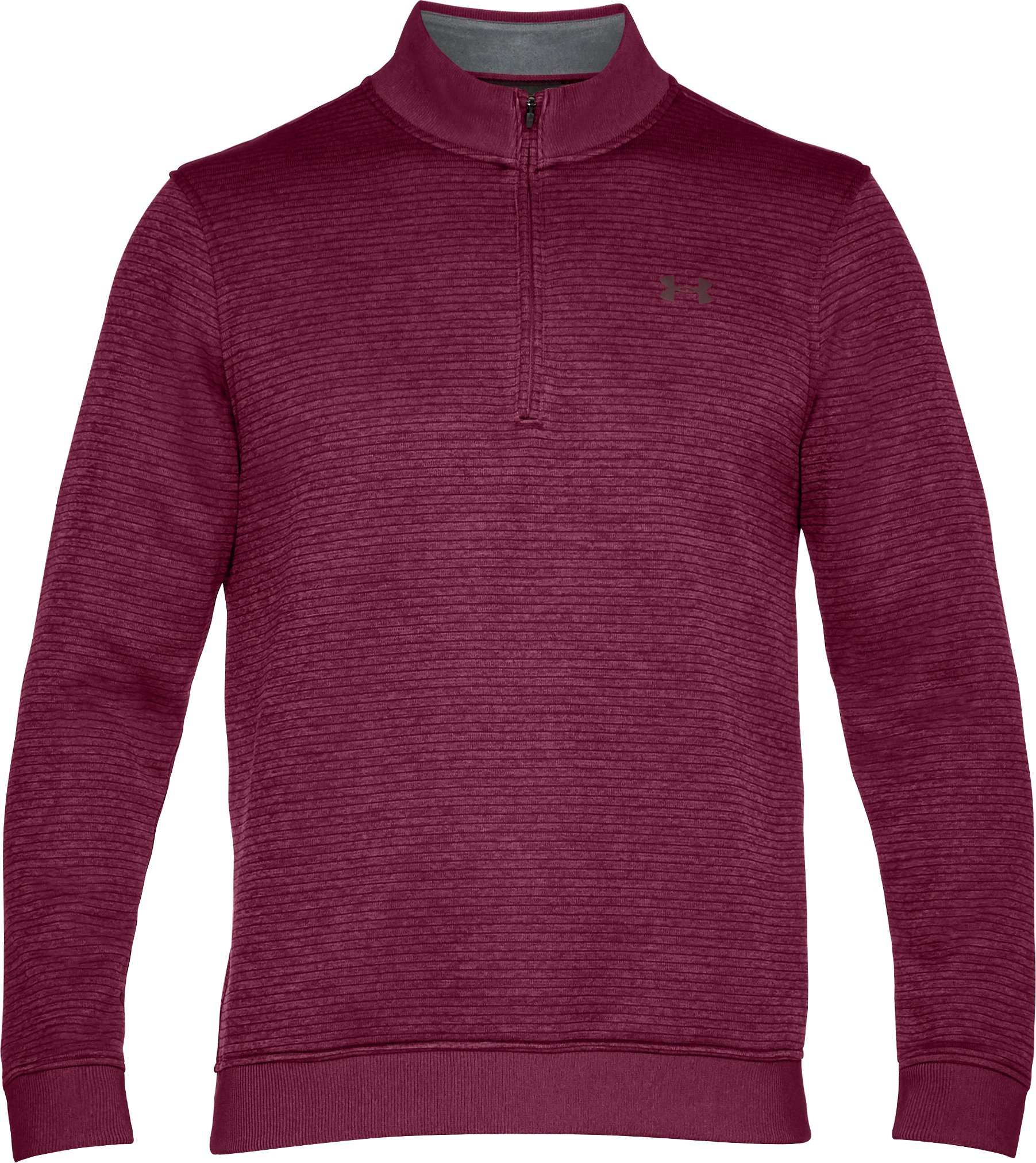 Men's UA Storm SweaterFleece Patterned ¼ Zip, BLACK CURRANT, undefined