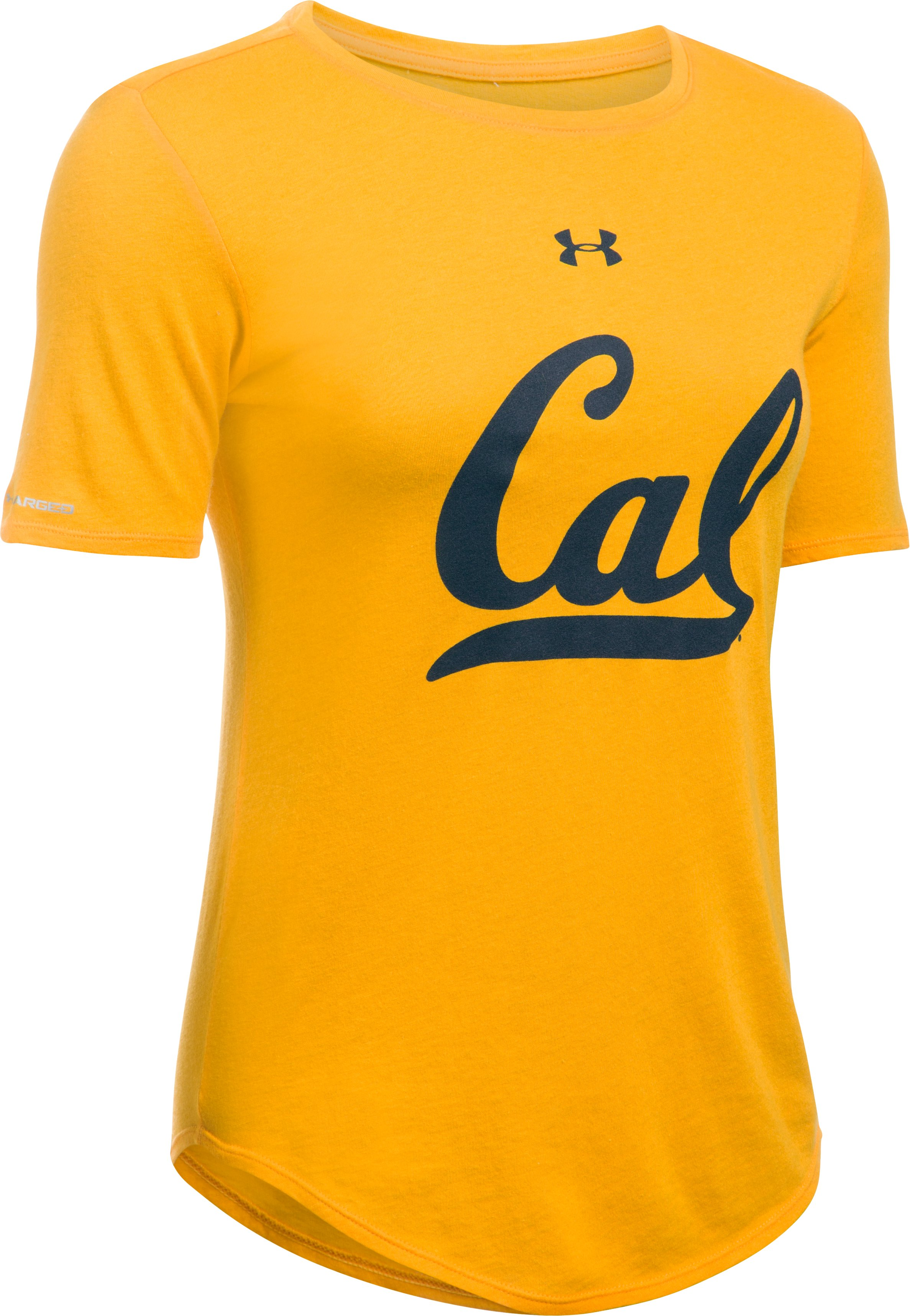 Women's Cal Bears UA Charged Cotton® Short Sleeve T-Shirt, Steeltown Gold, undefined