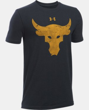 New Arrival  Boys' UA x Project Rock Brahma Bull T-Shirt LIMITED TIME: FREE SHIPPING 1 Color $29.99