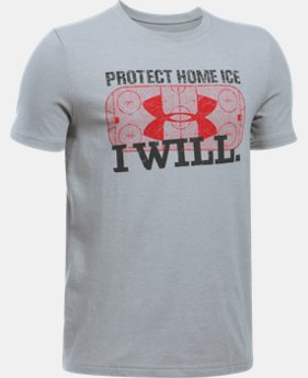 New Arrival  Boys' UA Hockey Protect Home Ice T-Shirt  LIMITED TIME: FREE SHIPPING 1 Color $22.99