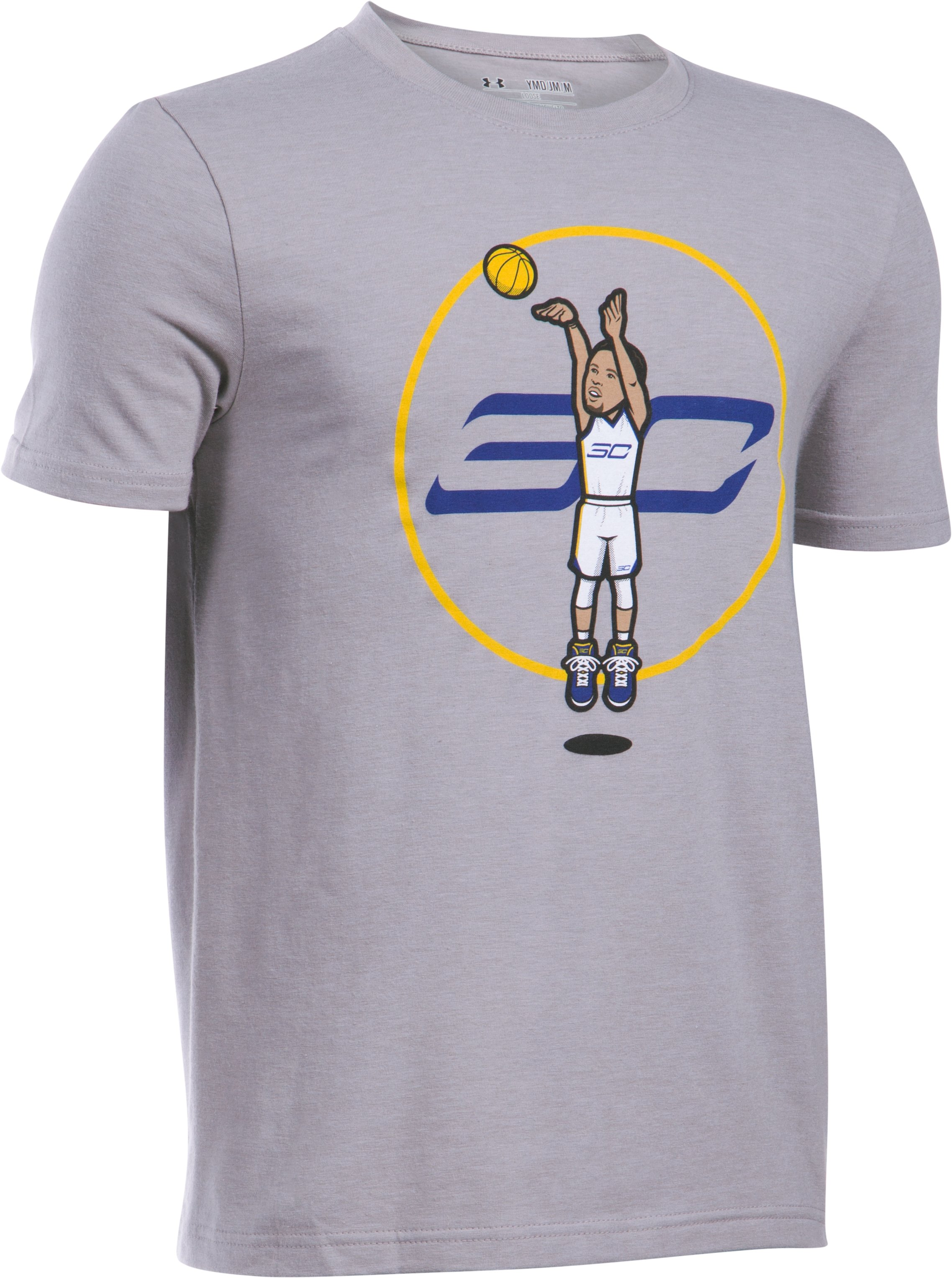Boys' SC30 Jump Shot T-Shirt, True Gray Heather,