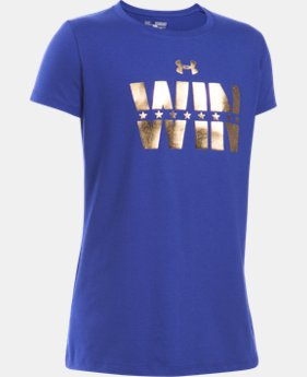 New Arrival Girls' UA Win Short Sleeve T-Shirt LIMITED TIME: FREE SHIPPING 1 Color $19.99