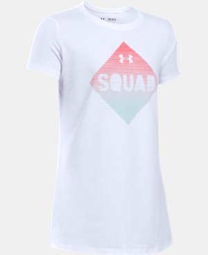 Girls' UA Armour Squad Short Sleeve T-Shirt LIMITED TIME: FREE U.S. SHIPPING 2 Colors $14.99