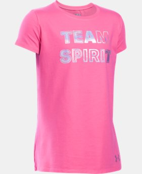 New Arrival Girls' UA Armour Squad Short Sleeve T-Shirt LIMITED TIME: FREE SHIPPING  $19.99