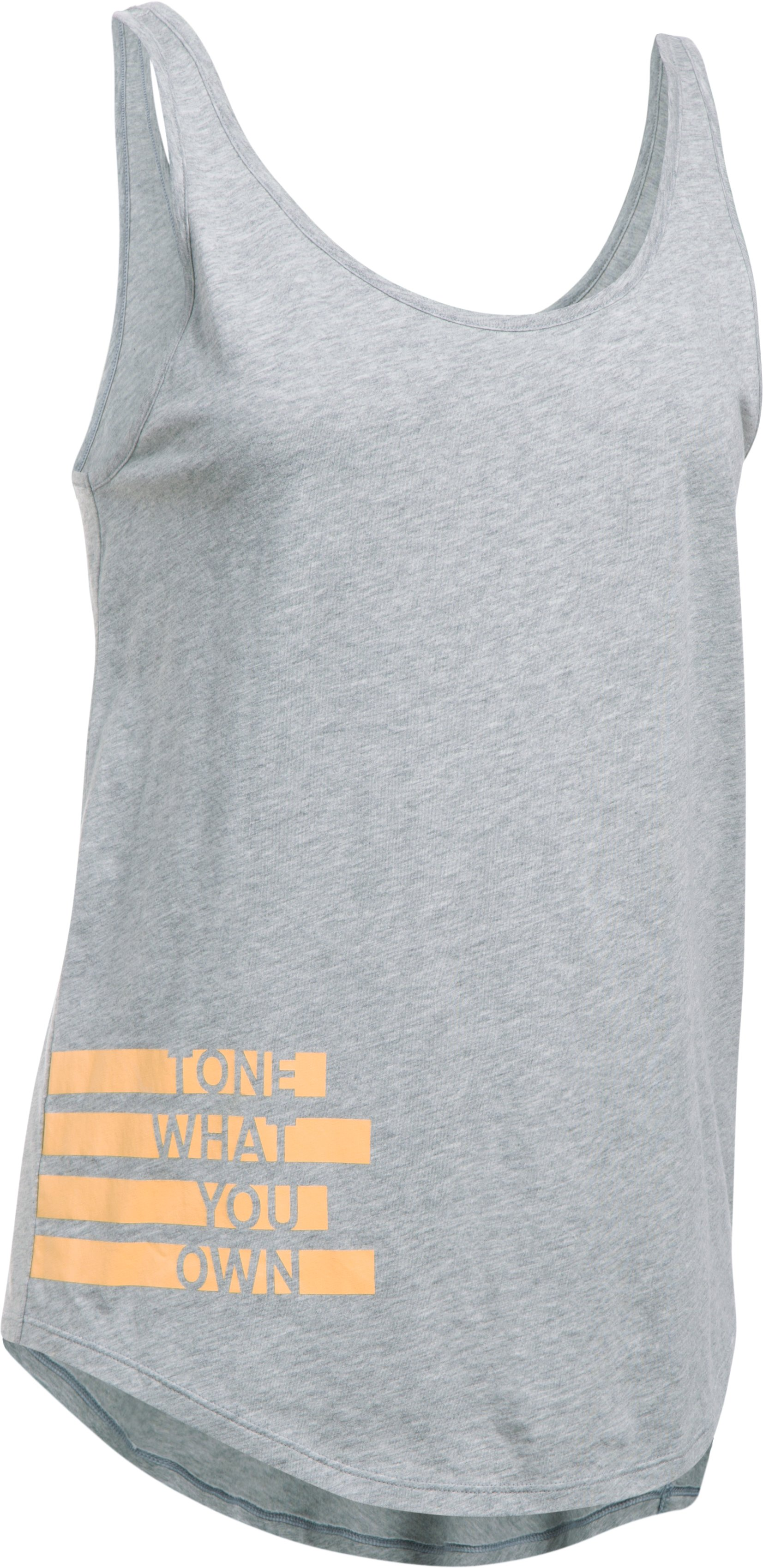 Women's UA Tone What You Own Tank, True Gray Heather, undefined