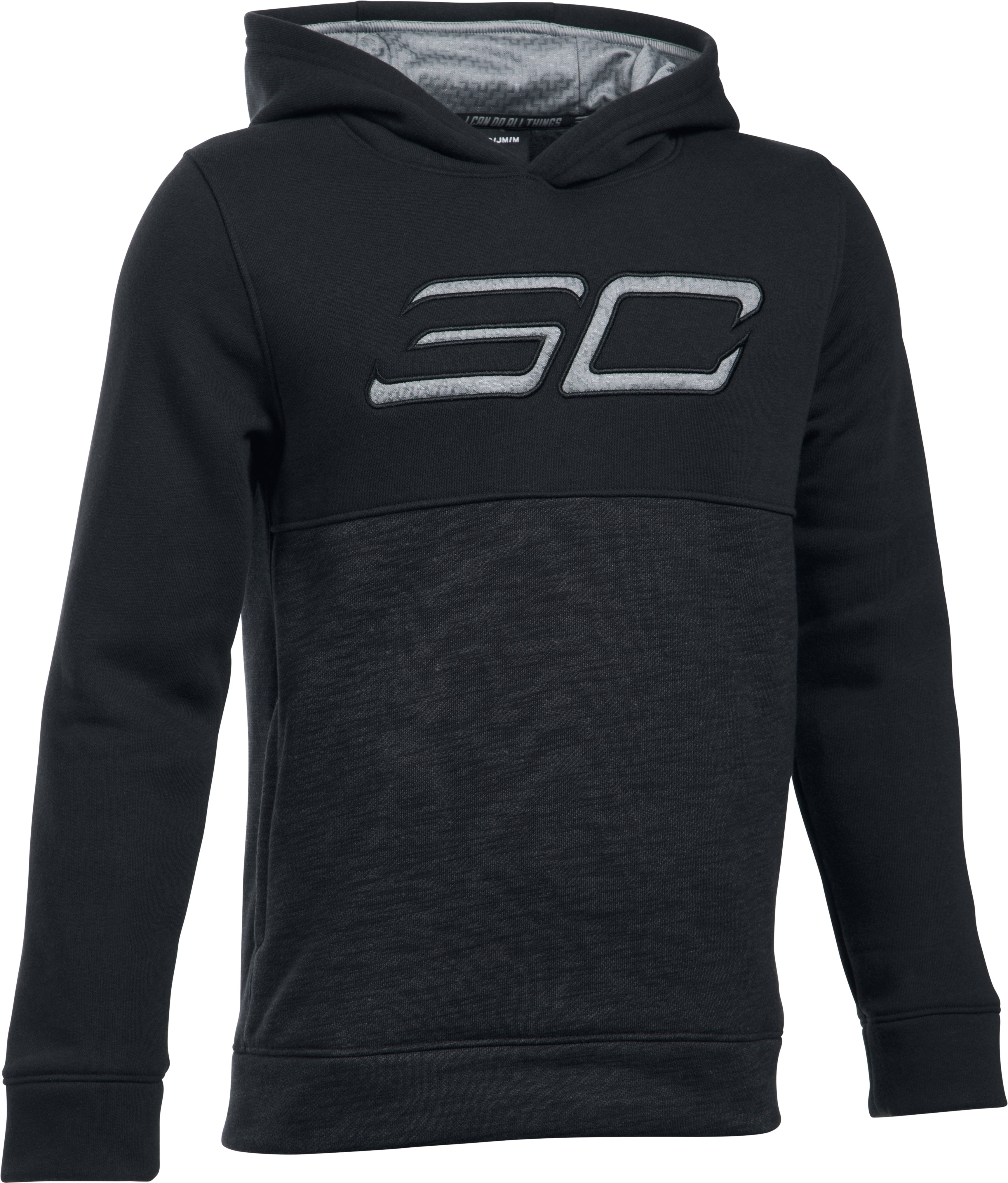 Boys' SC30 Fleece Logo Hoodie, Black