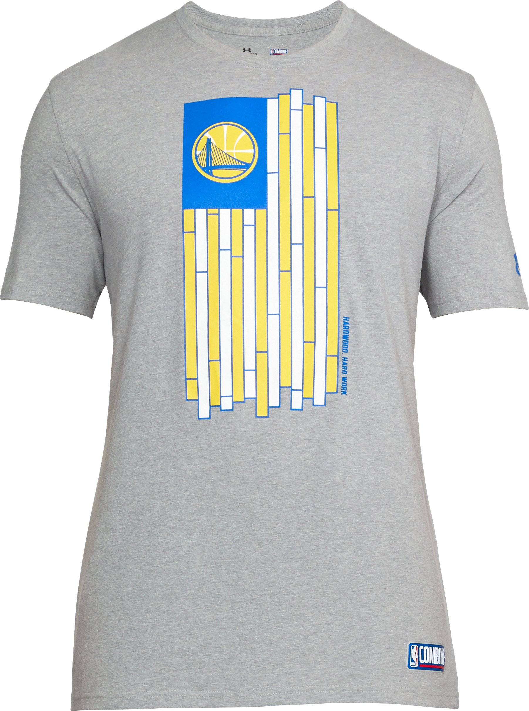 Men's NBA Combine UA Court Flag T-Shirt, NBA_GOLDEN STATE WARRIORS_STEEL,