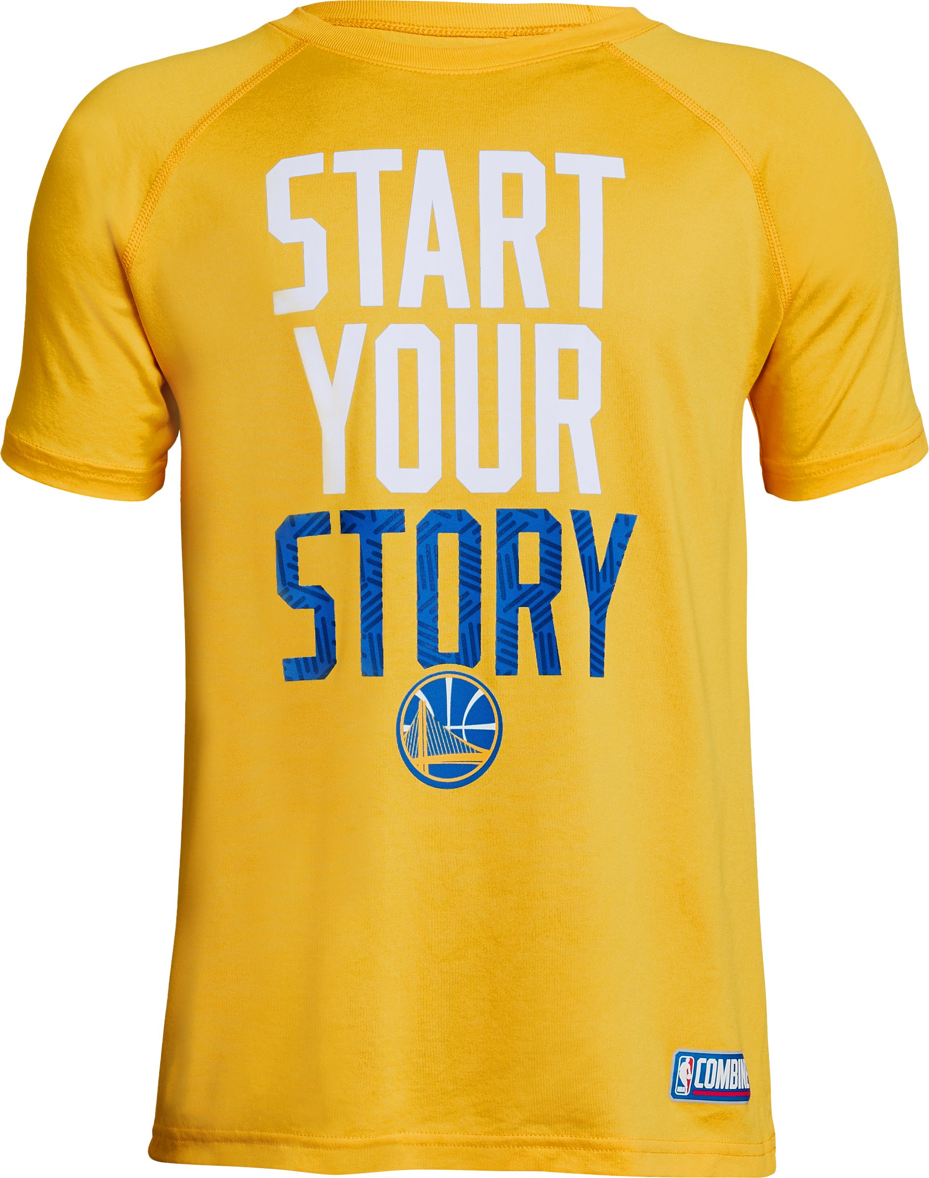 Boys' NBA Combine Authentic SYS UA Tech™ T-Shirt, NBA_GOLDEN STATE WARRIORS_YIELD YELLOW