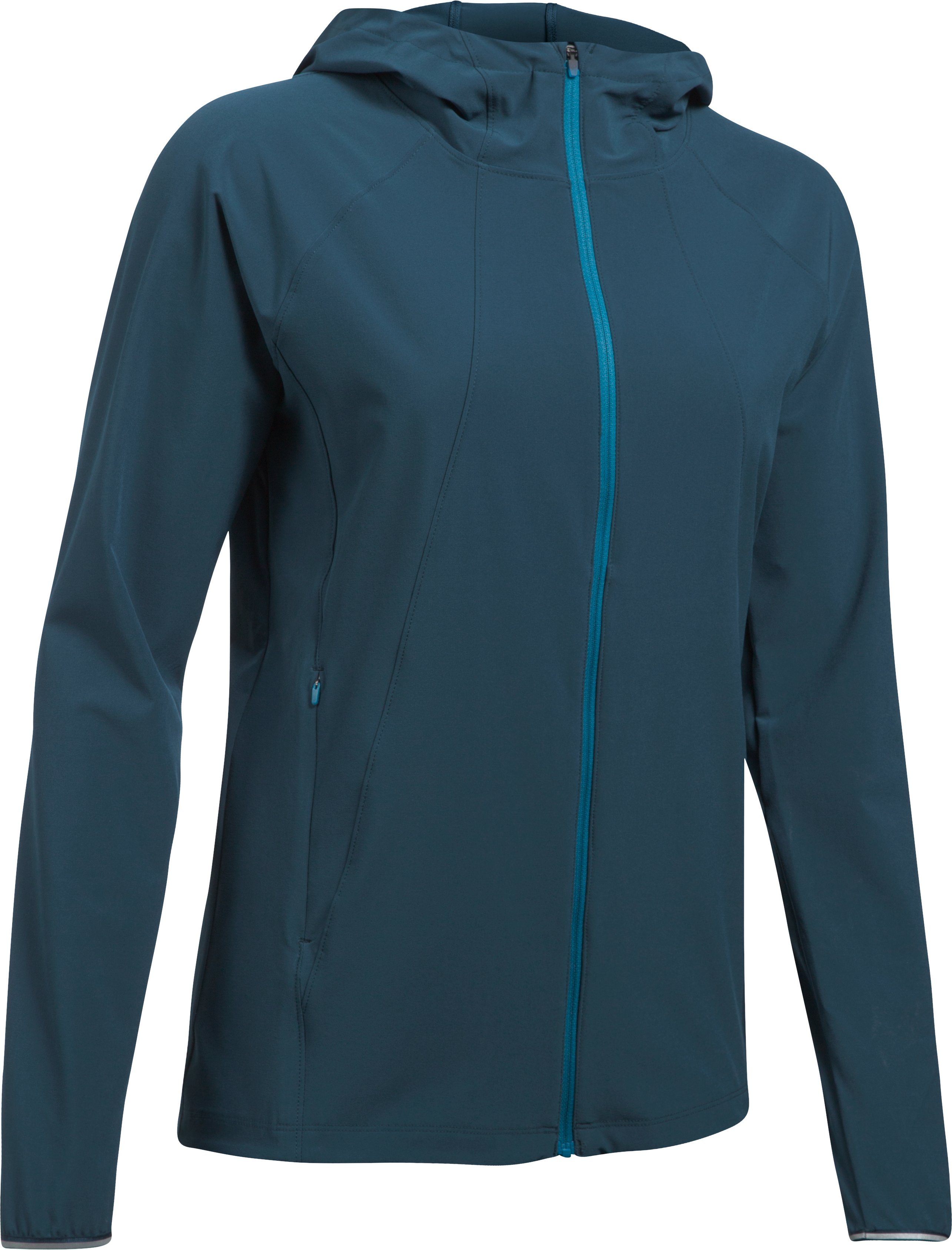 Women's UA Out Run The Storm Jacket, TRUE INK, undefined