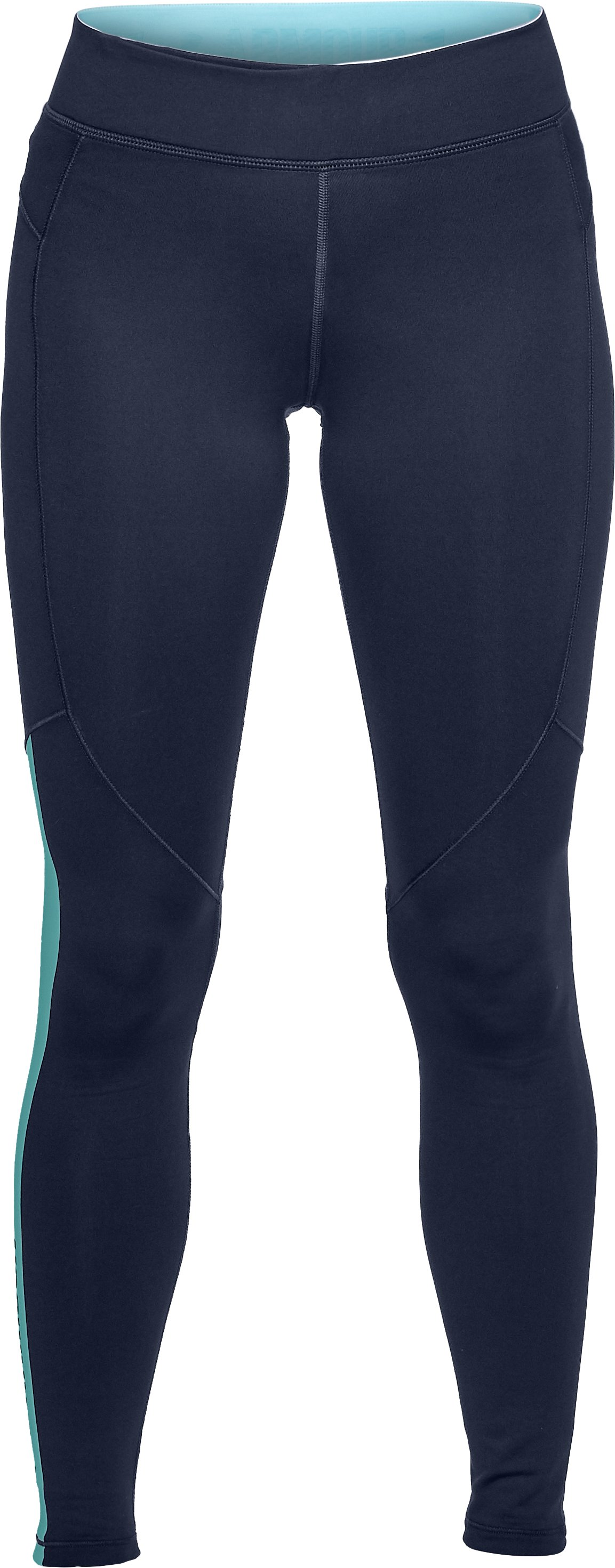 Women's ColdGear® Armour Graphic Leggings, Midnight Navy,