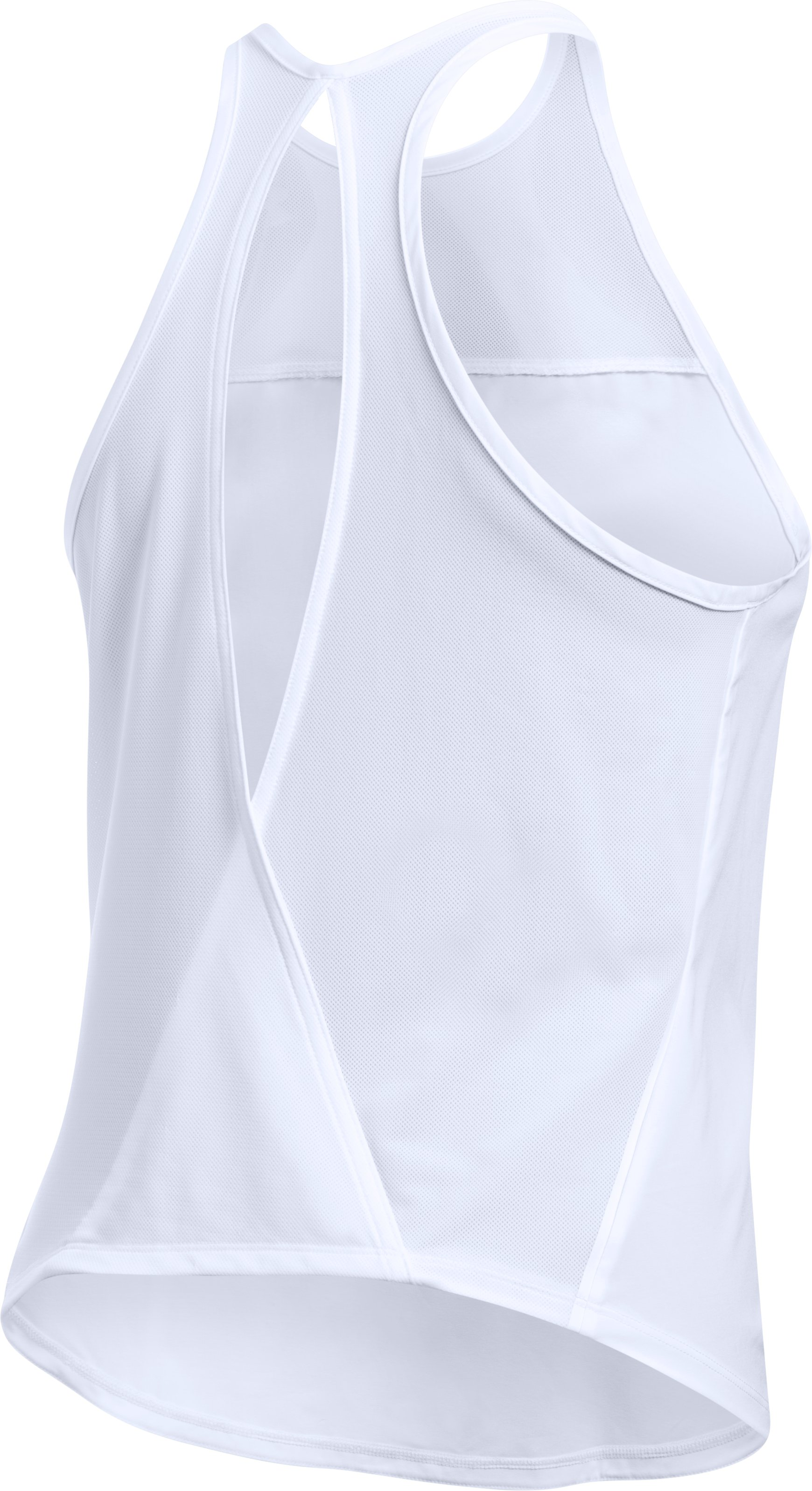 Women's UA Accelerate Tank, White,