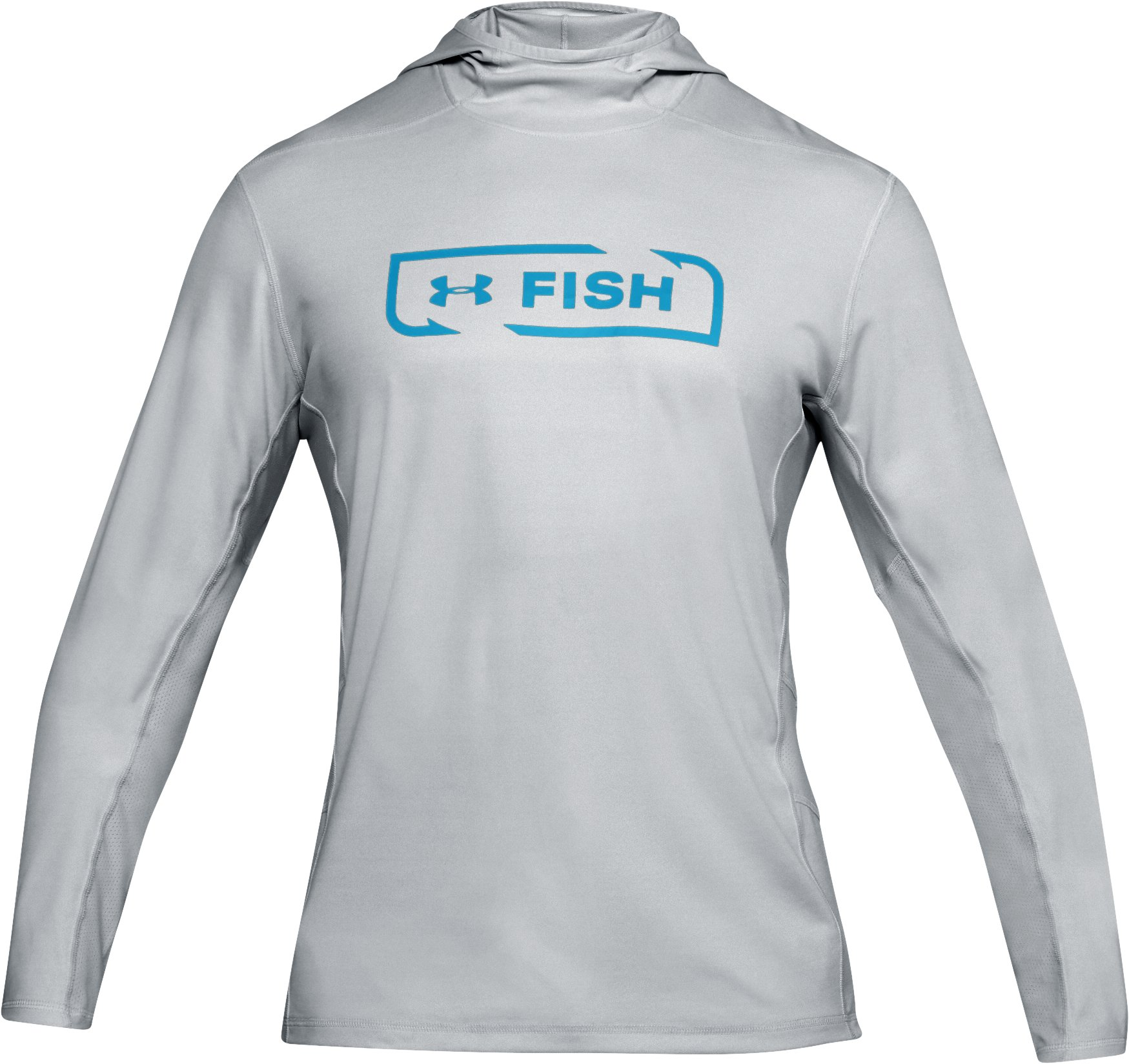 Men's UA Fish Hunter Tech Hoodie, ELEMENTAL LIGHT HEATHER,