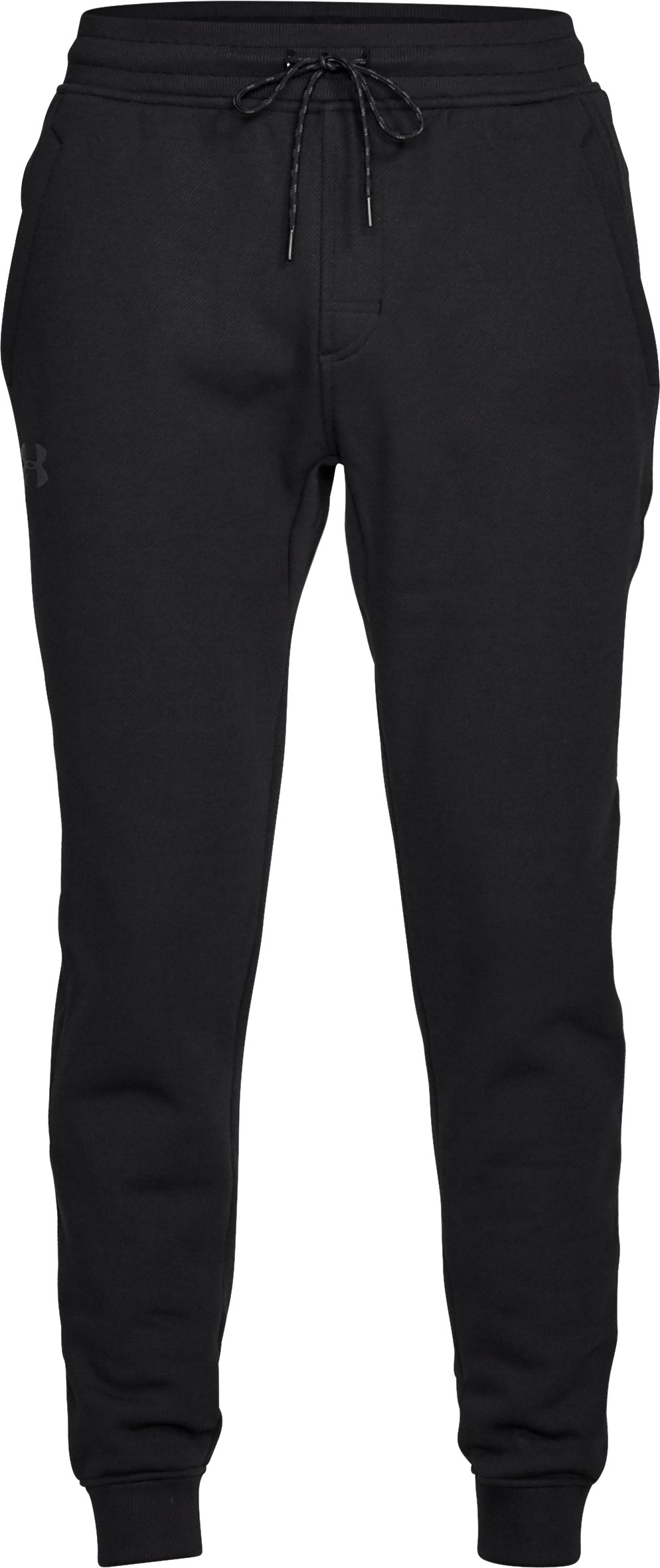 Men's Armour Fleece® Twill Jogger, Black , undefined