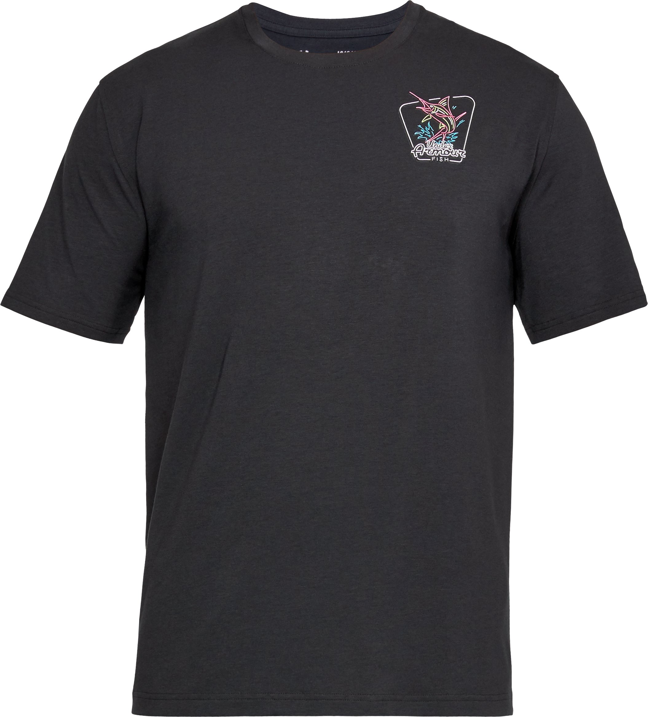 Men's UA Neon Marlin T-Shirt, Black ,