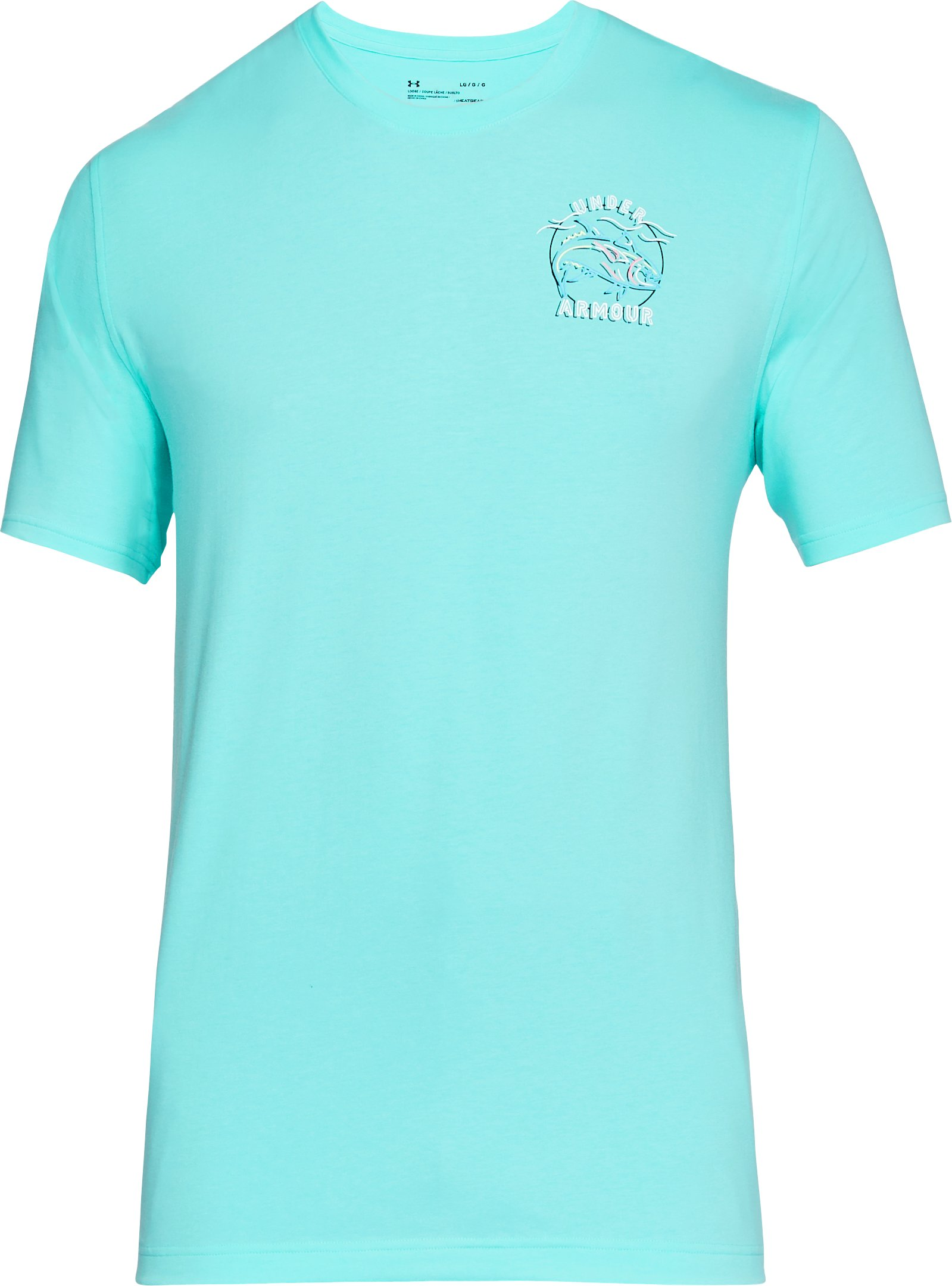 Men's UA Neon Tuna T-Shirt, TROPICAL TIDE,