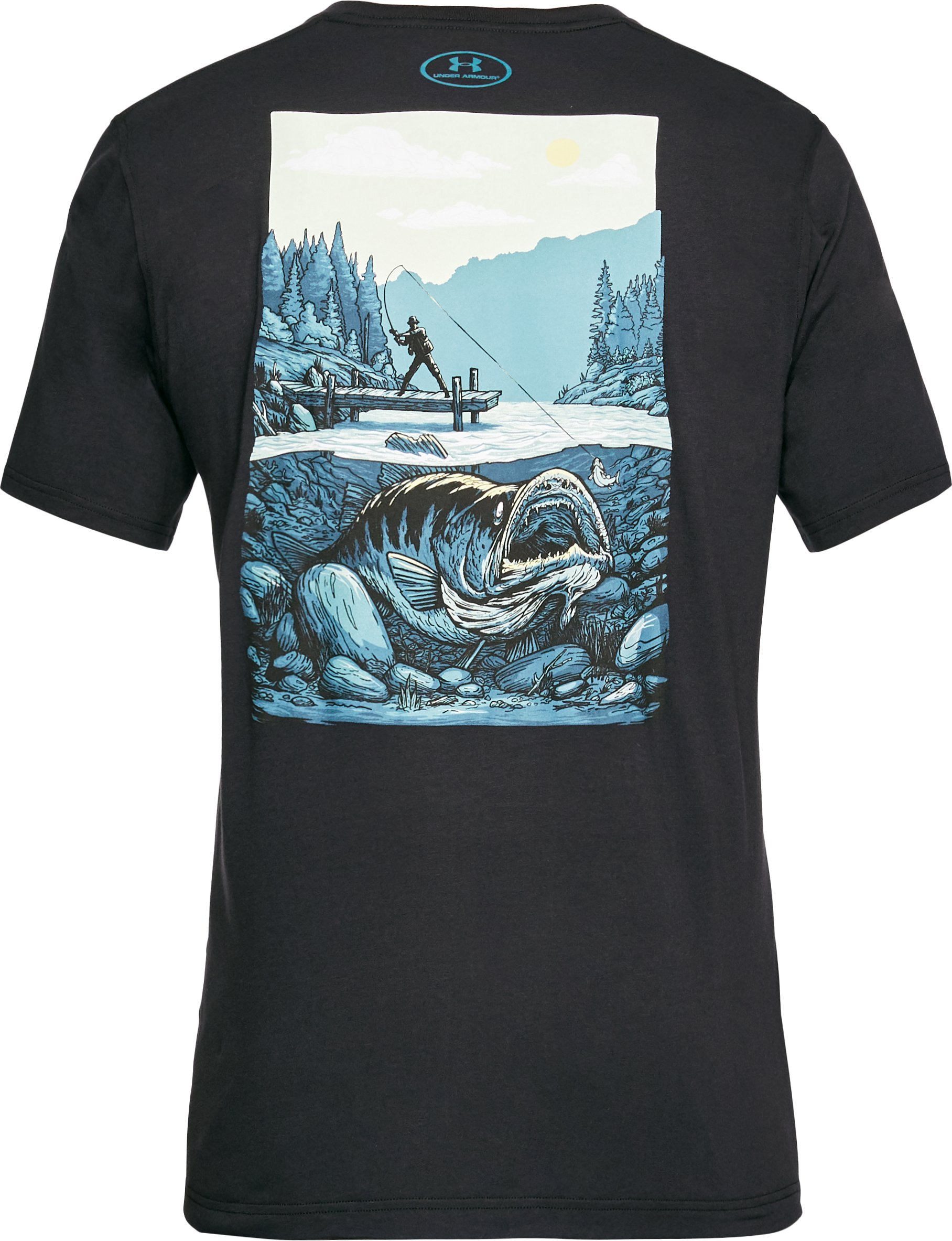 Men's UA Lord of the Lake T-Shirt, Black , undefined