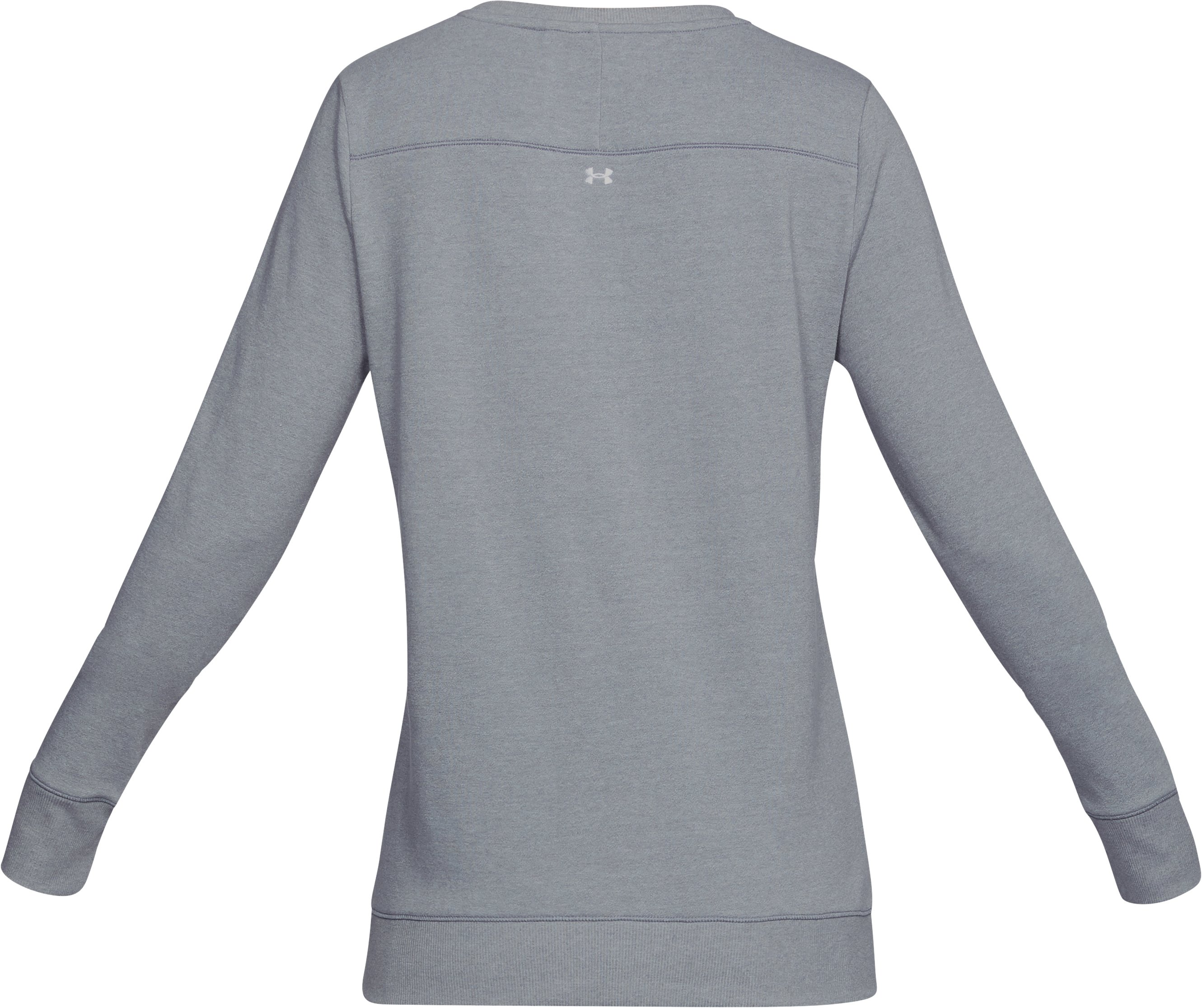 Women's UA Microthread Shoreline Terry Crew, STEEL MEDIUM HEATHER,