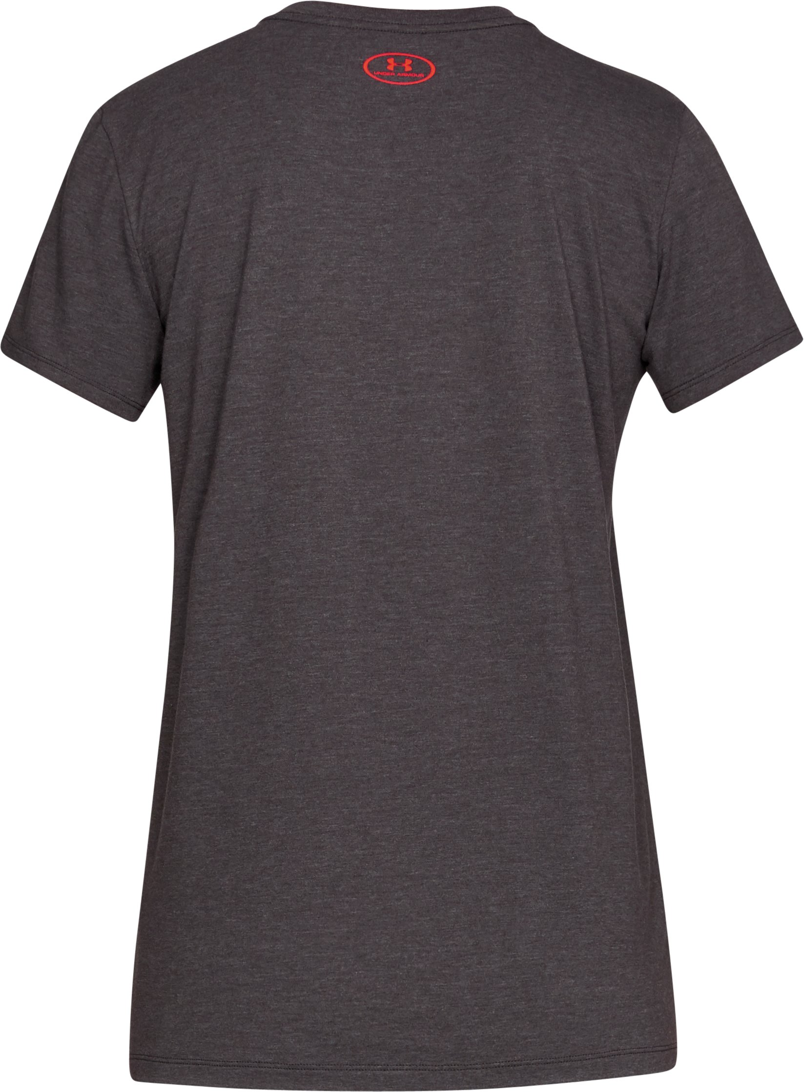 Women's UA Hook Logo T-Shirt, CHARCOAL MEDIUM HEATHER,