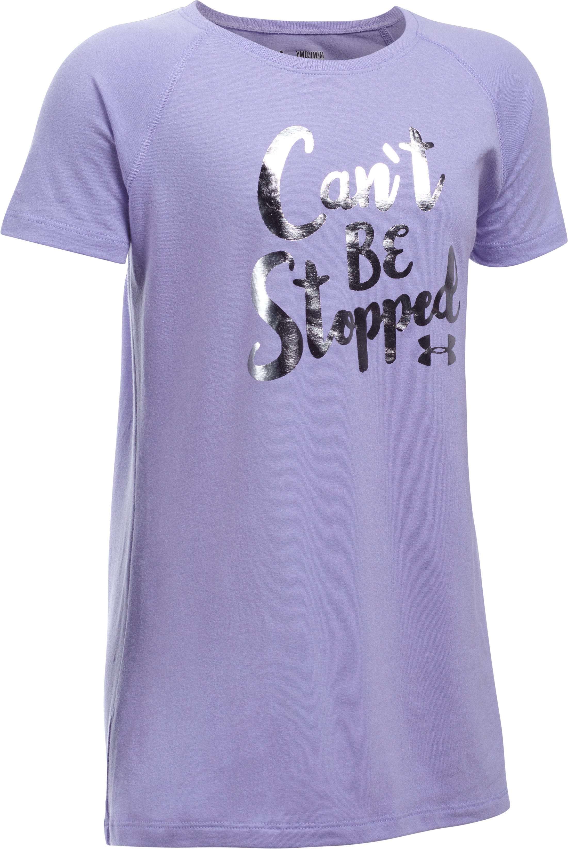Girls' UA Can't Be Stopped T-Shirt, DARK LAVENDER