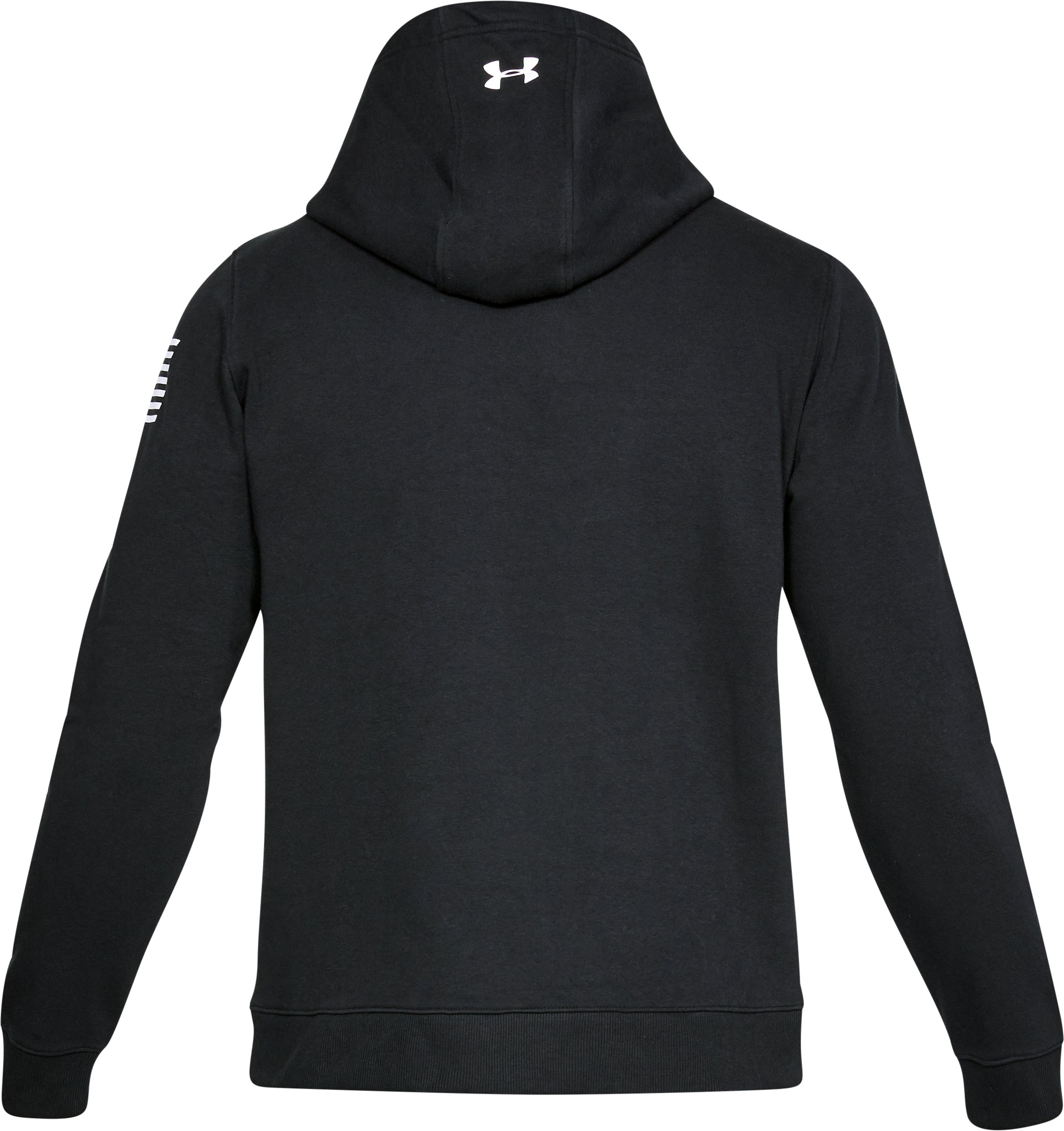 Men's UA Freedom Microthread Fleece Hoodie, Black ,