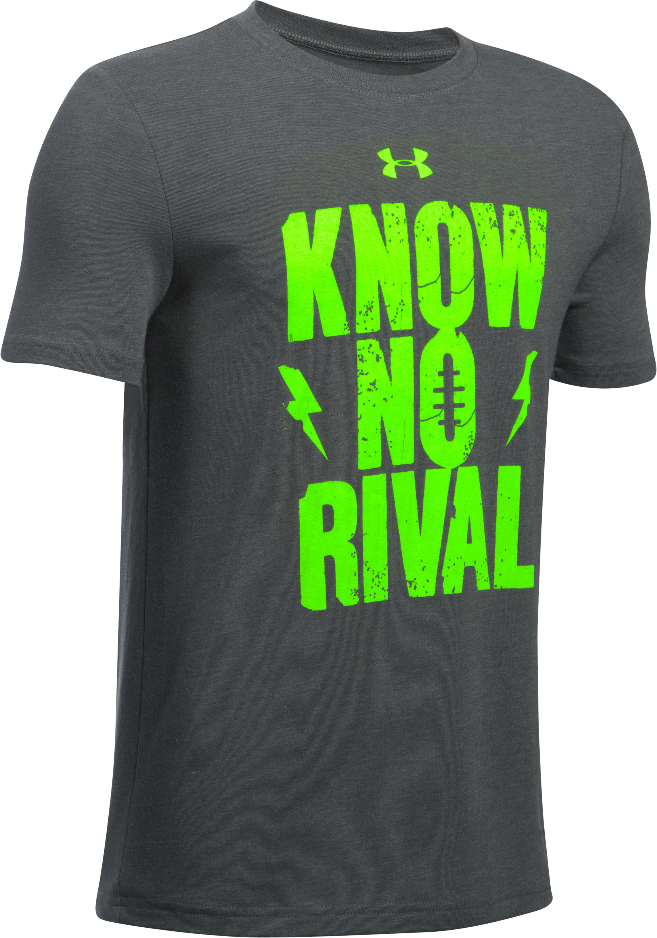 Boys' UA Know No Rival T-Shirt, Carbon Heather