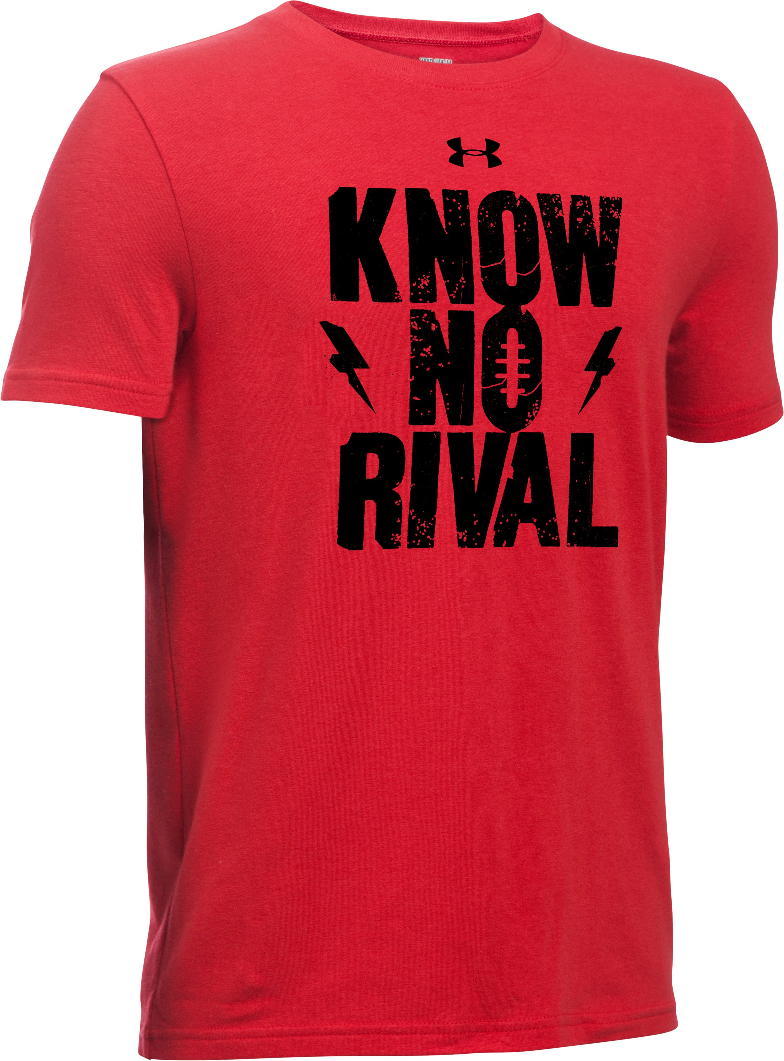 Boys' UA Know No Rival T-Shirt, Red