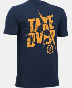Boys' UA Take Over T-Shirt LIMITED TIME: FREE U.S. SHIPPING 1 Color $14.99